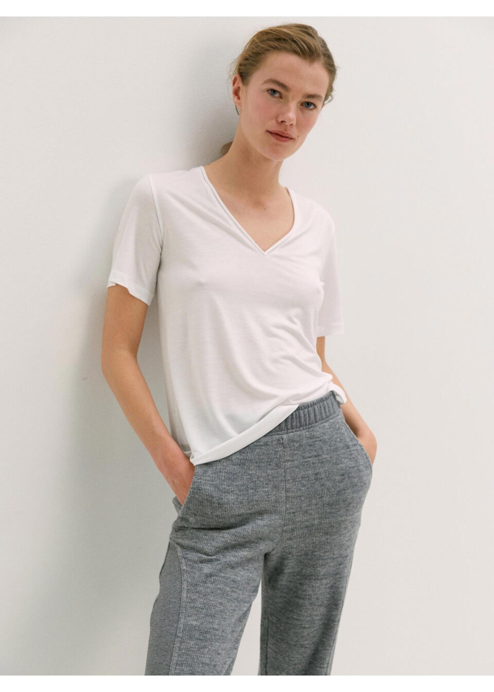 Malene Birger Aneilia tshirt pure white