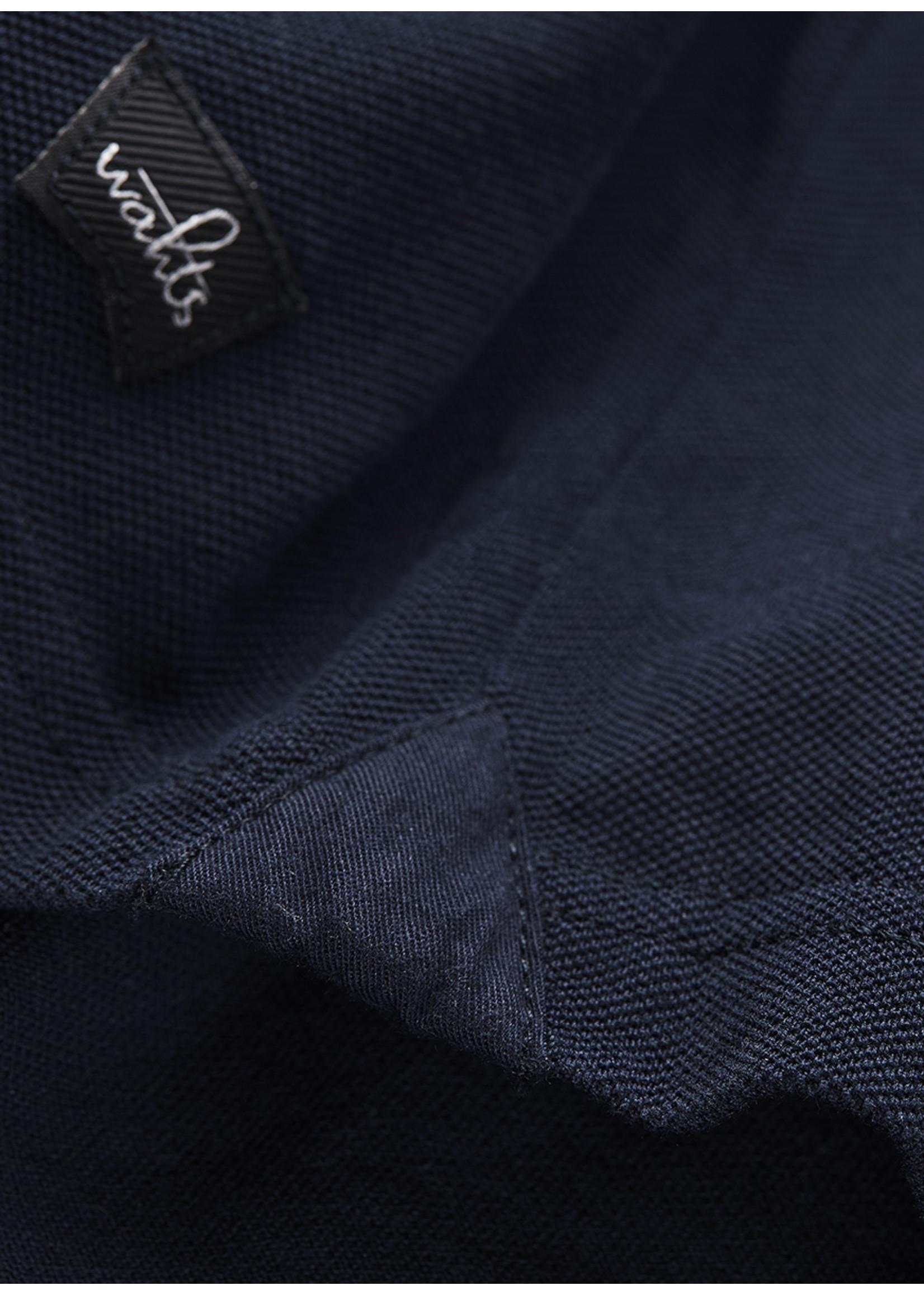Wahts Davis tailored polo shirt navy blue