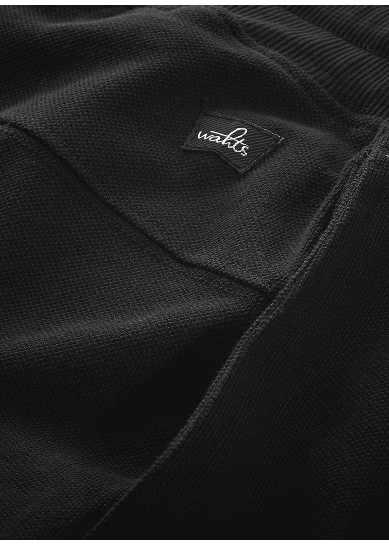 Wahts Key pique shorts pure black