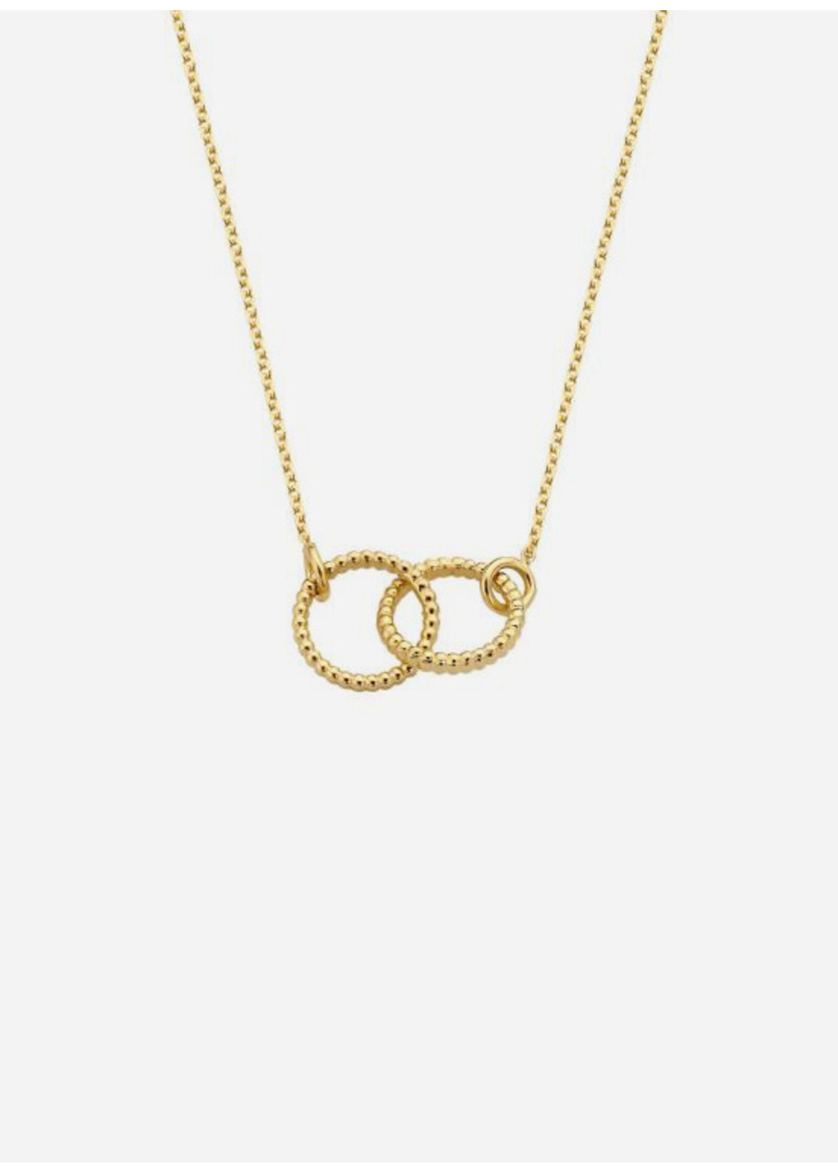Just Franky Vintage necklace double open circle