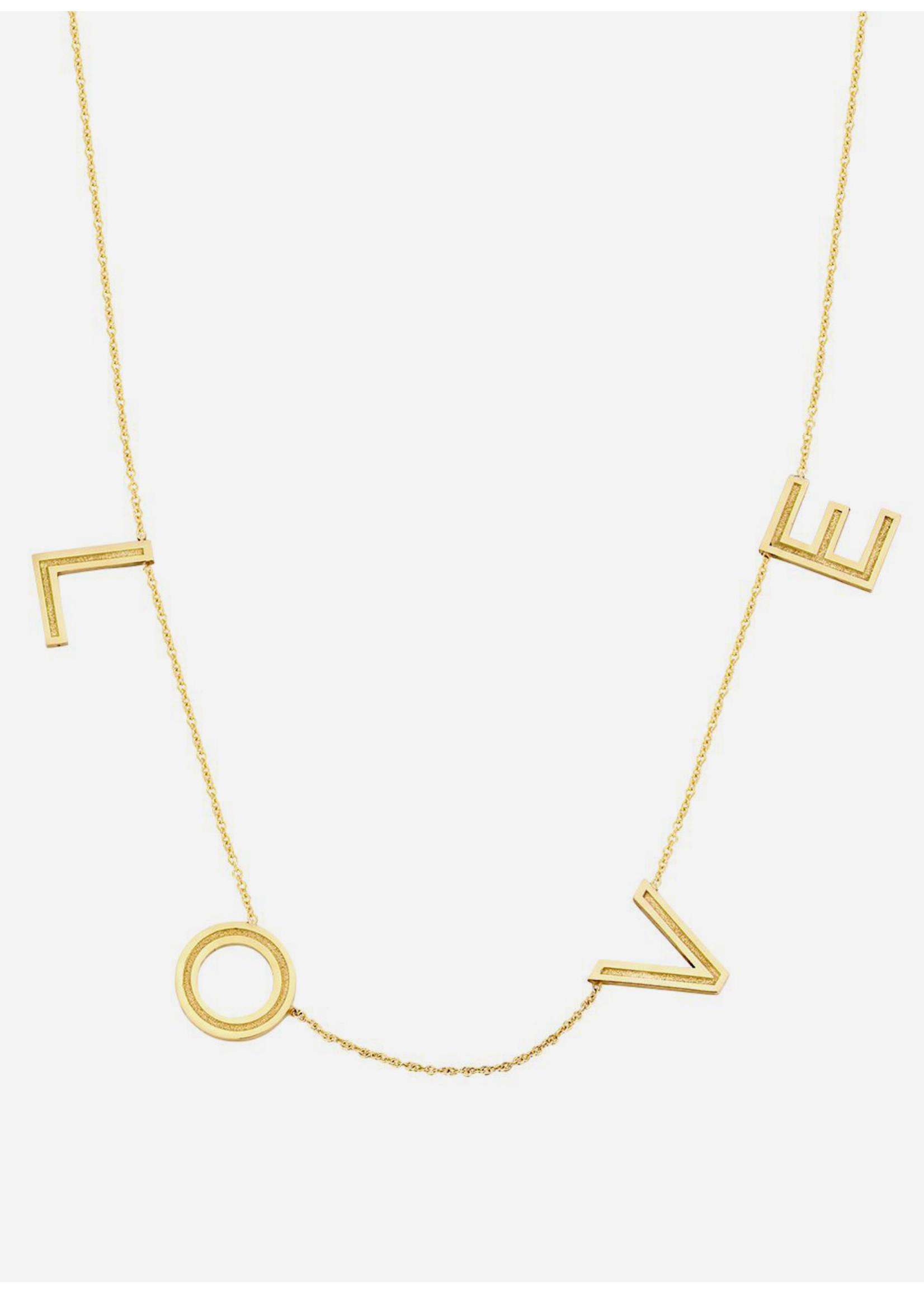 Just Franky Love Letter Big necklace 4 letters