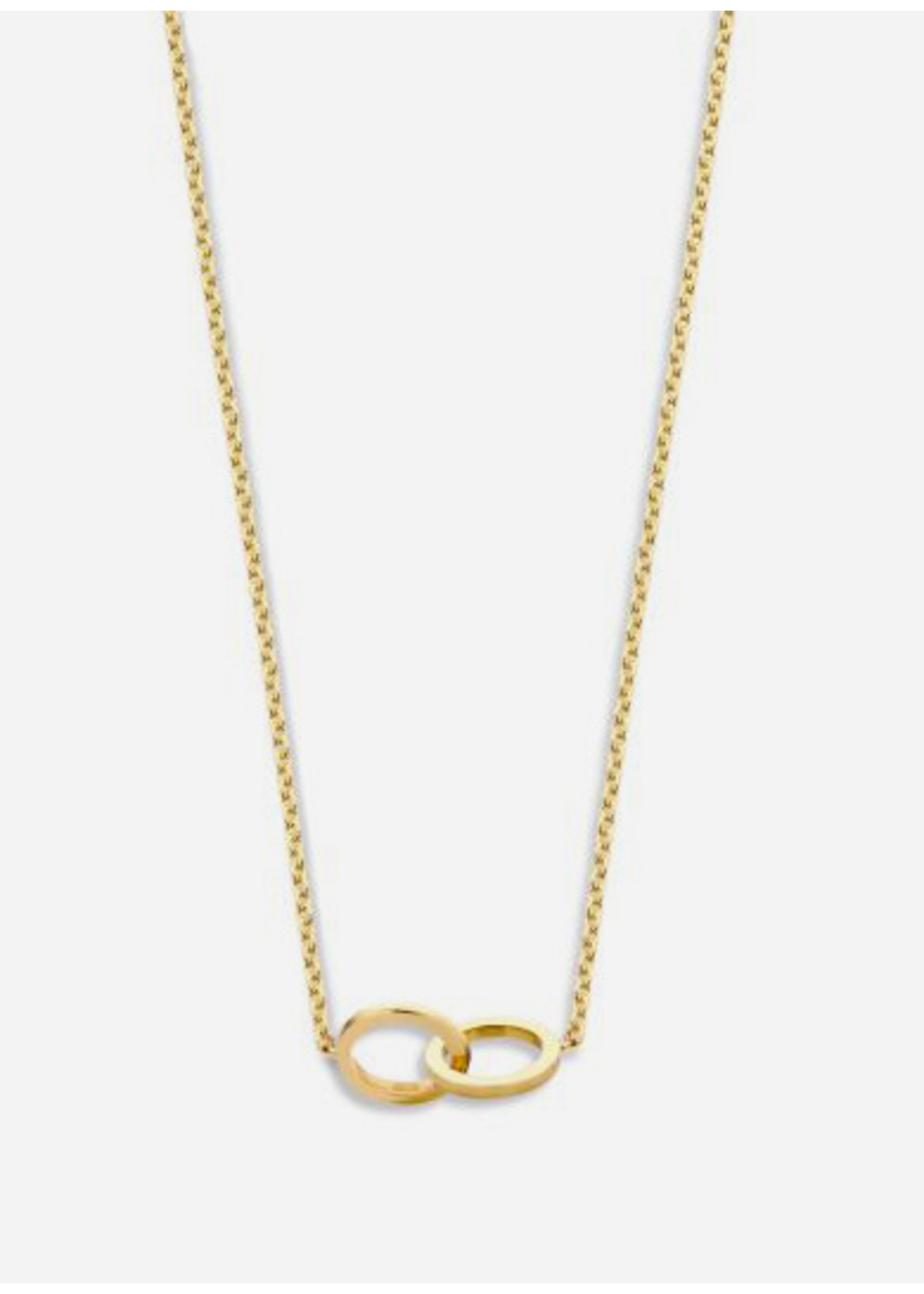 Just Franky Iconic double open circle necklace