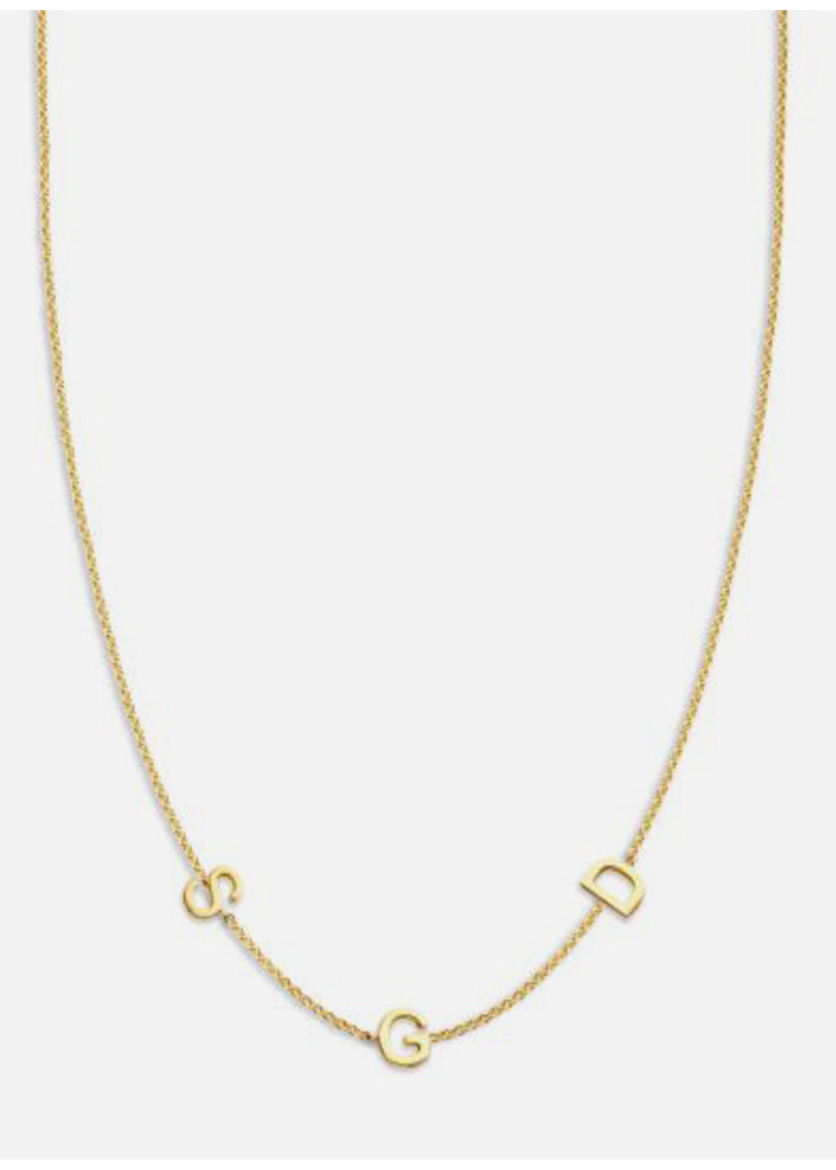Just Franky Love letter necklace 3 initials