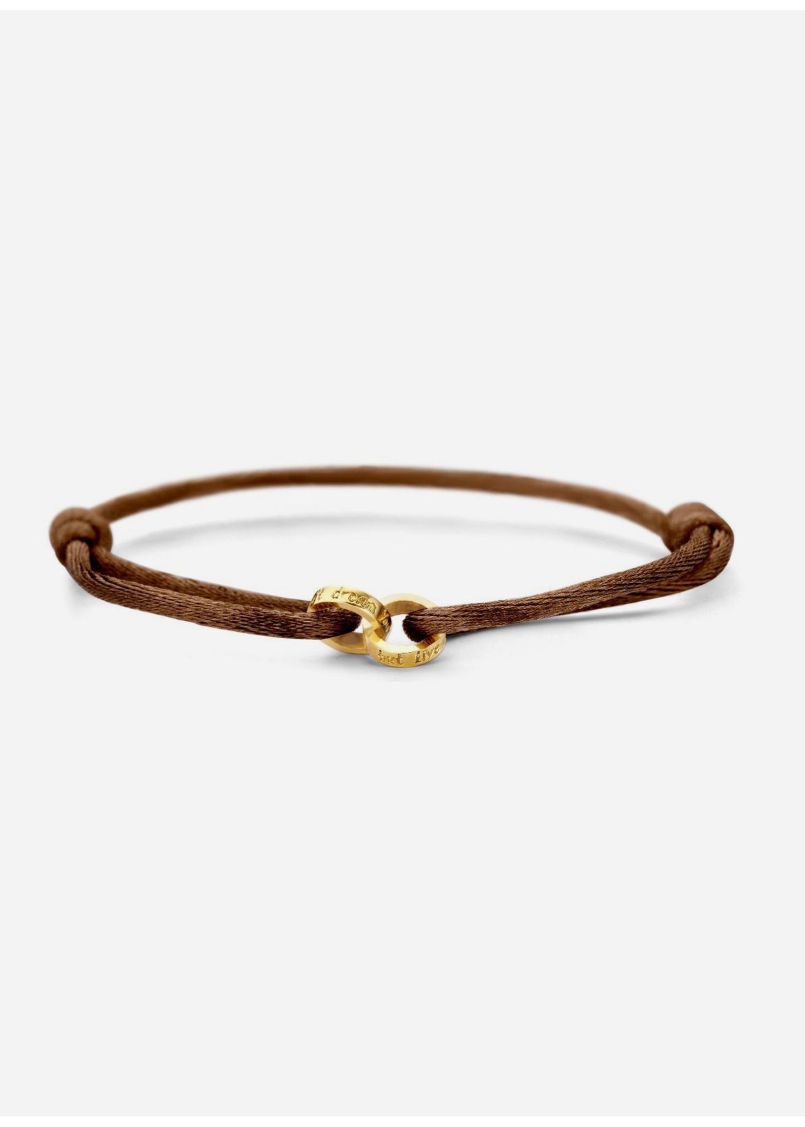 Just Franky Iconic bracelet double open circle cord with engraving