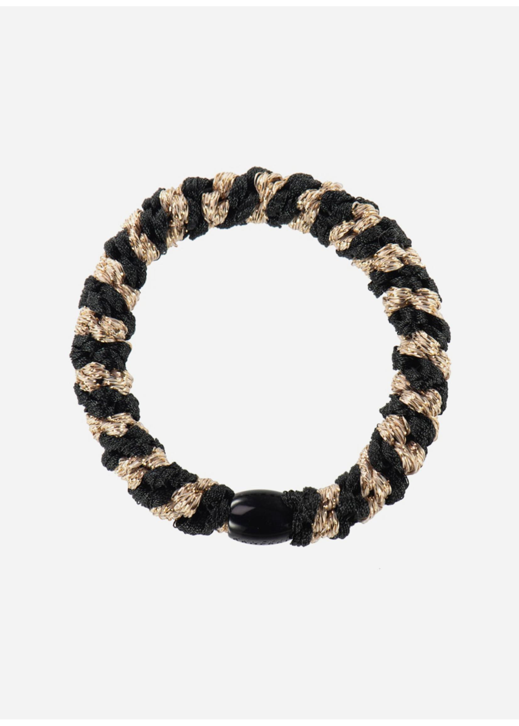 Kknekki by Bon Dep Black-beige glitter stripe