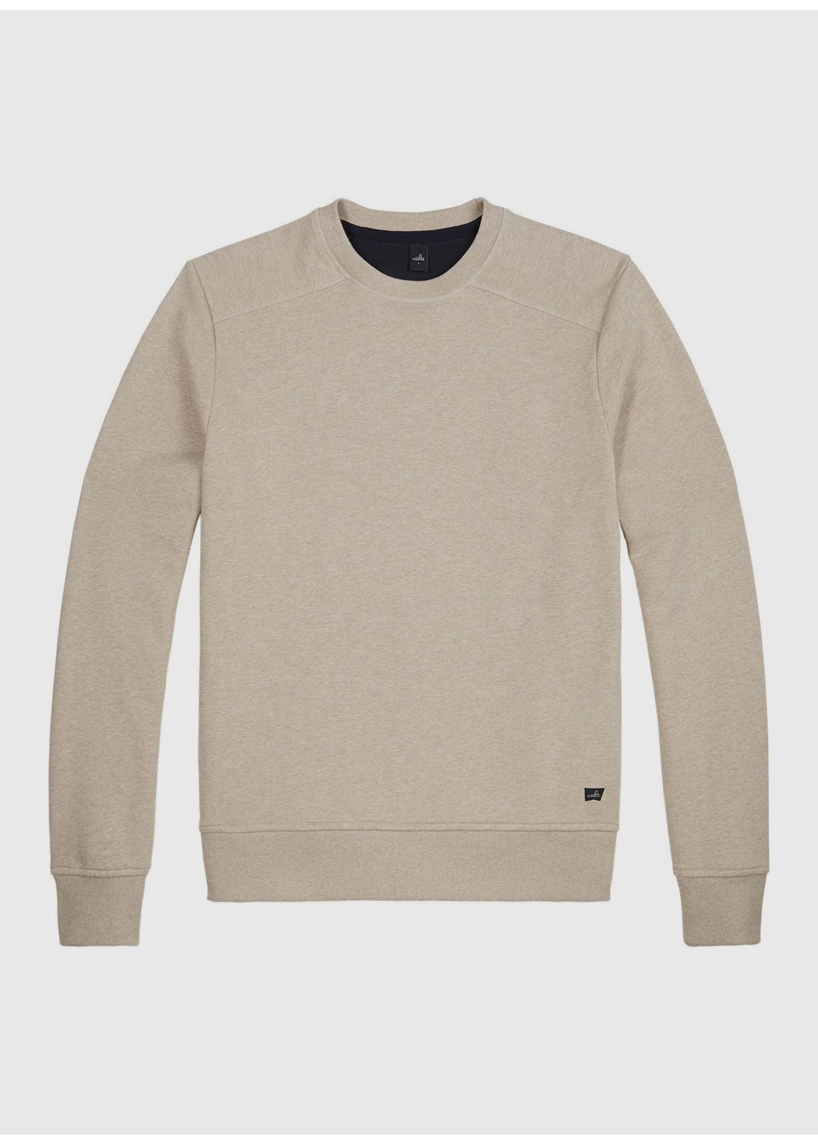 Wahts Moore crewneck sweater sand melange