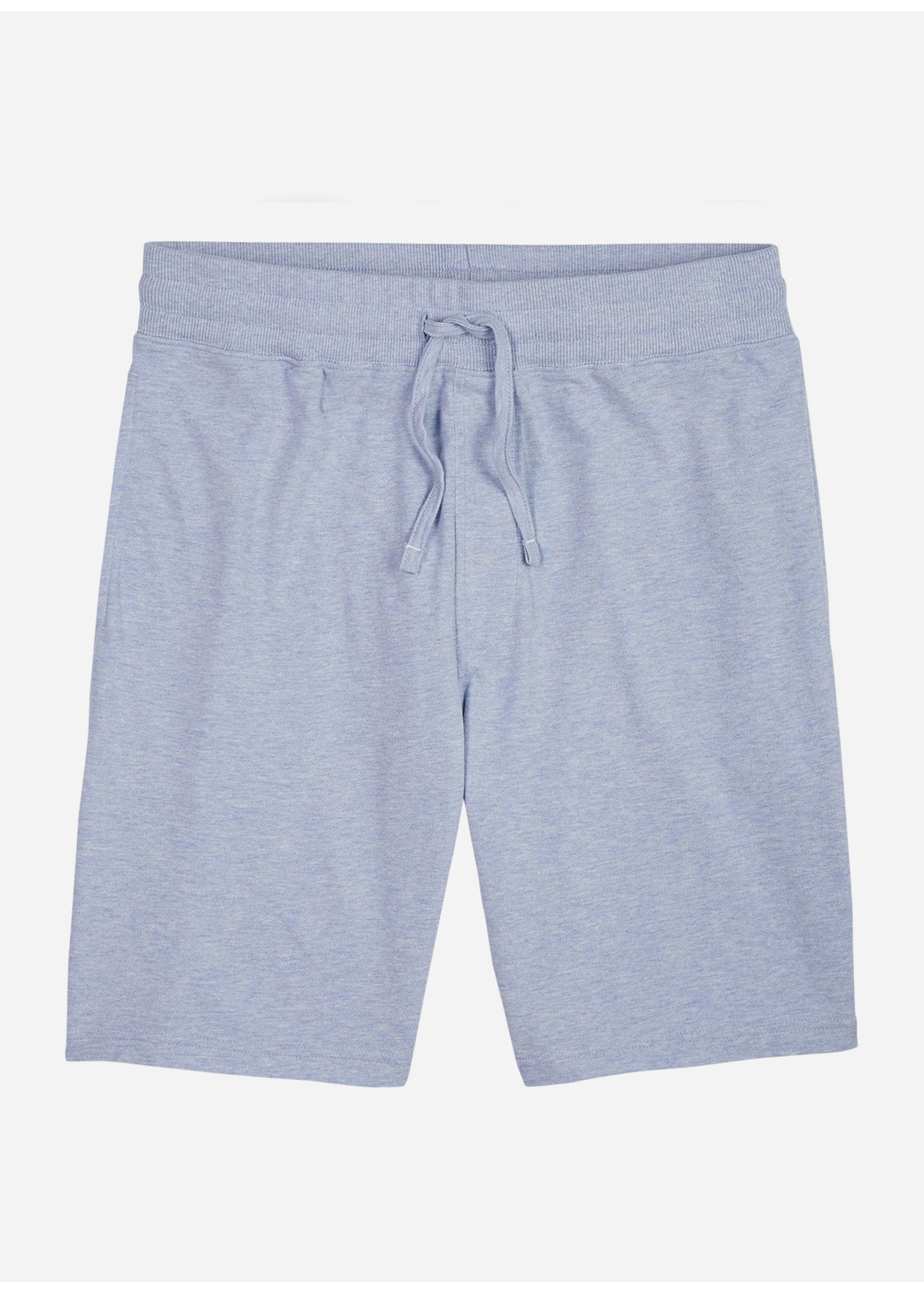 Wahts Key pique shorts light blue melange