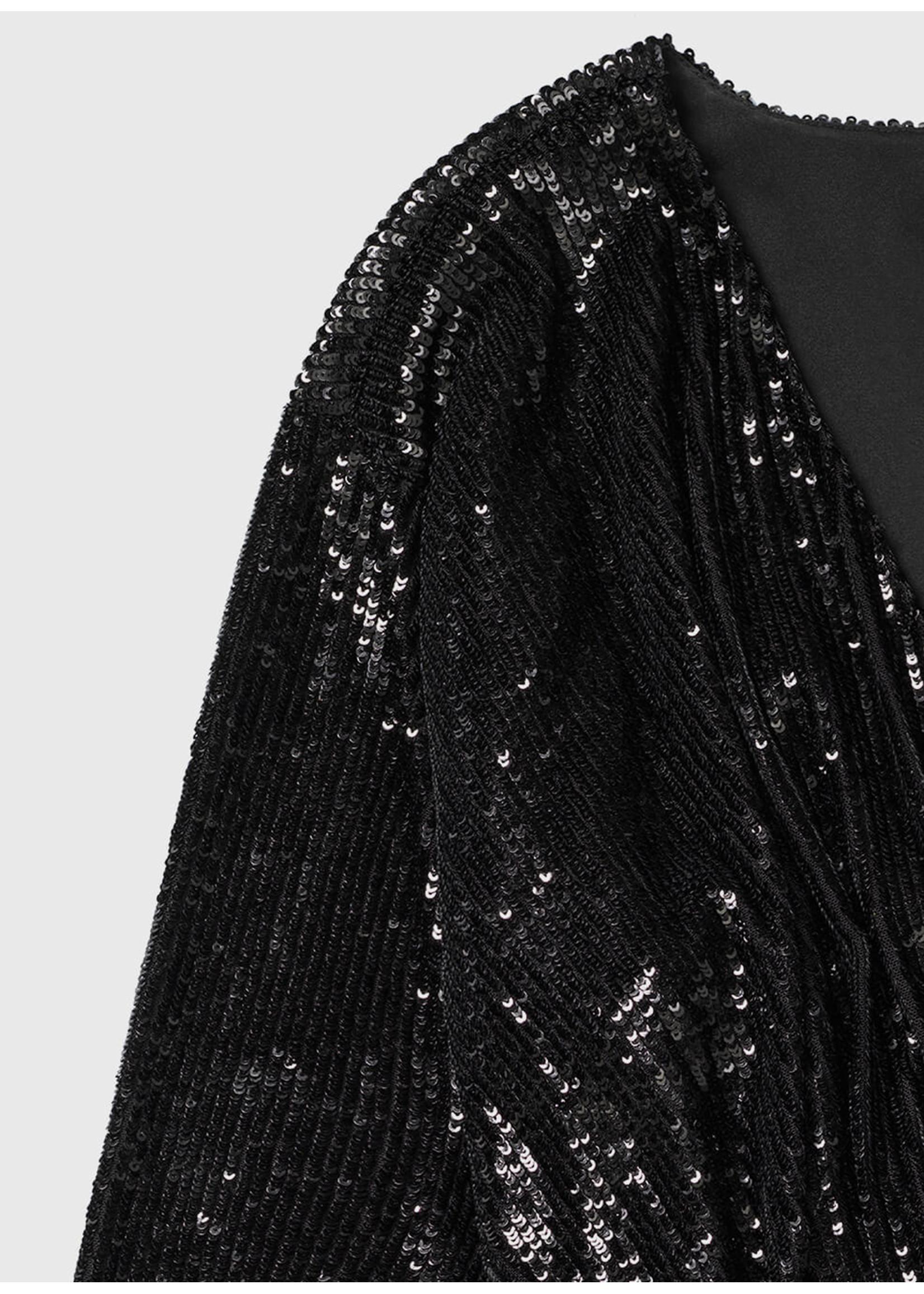 Anine Bing Elena dress black sequin