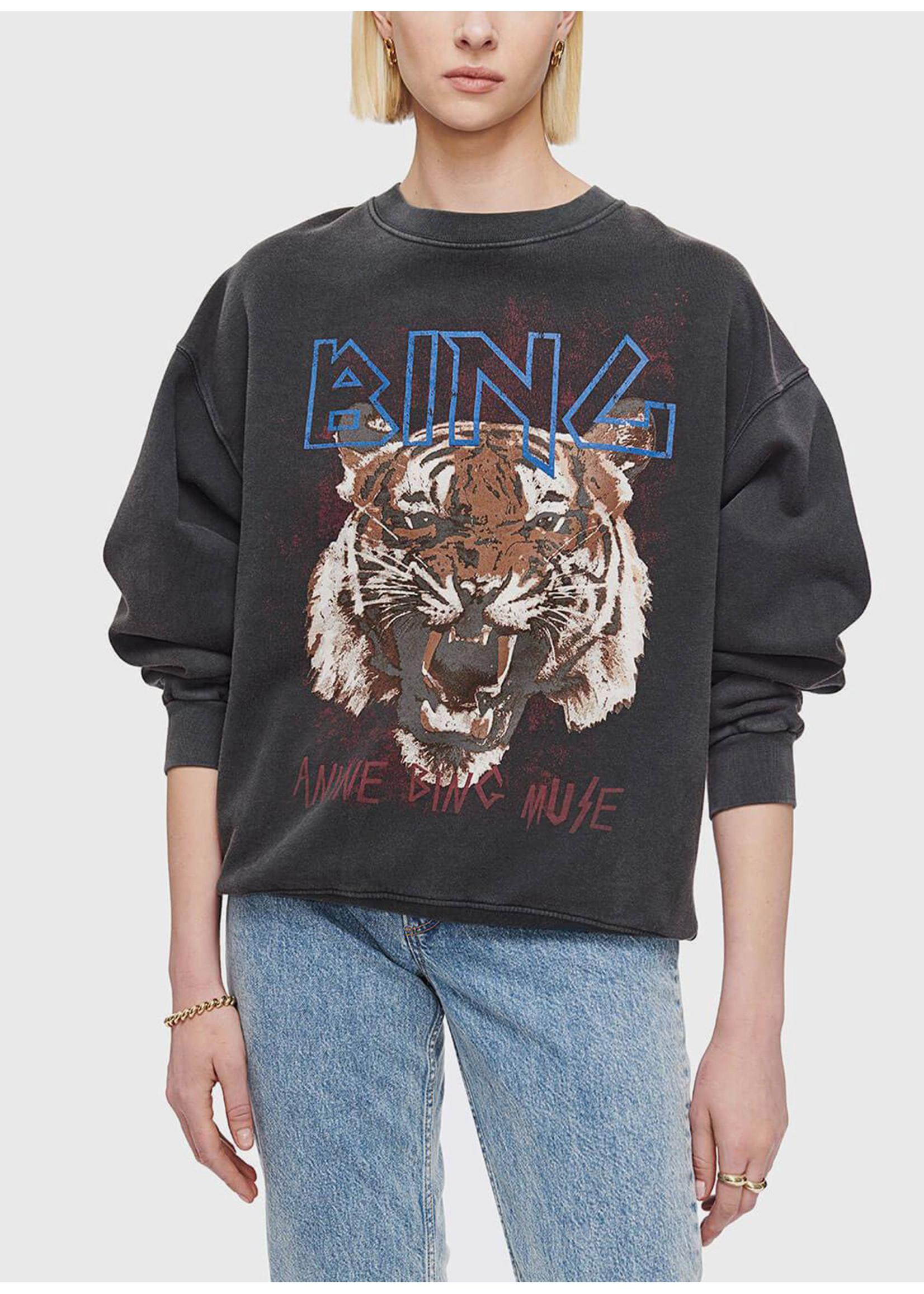Anine Bing Tiger sweatshirt black