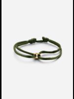 Just Franky Single open circle bracelet cord