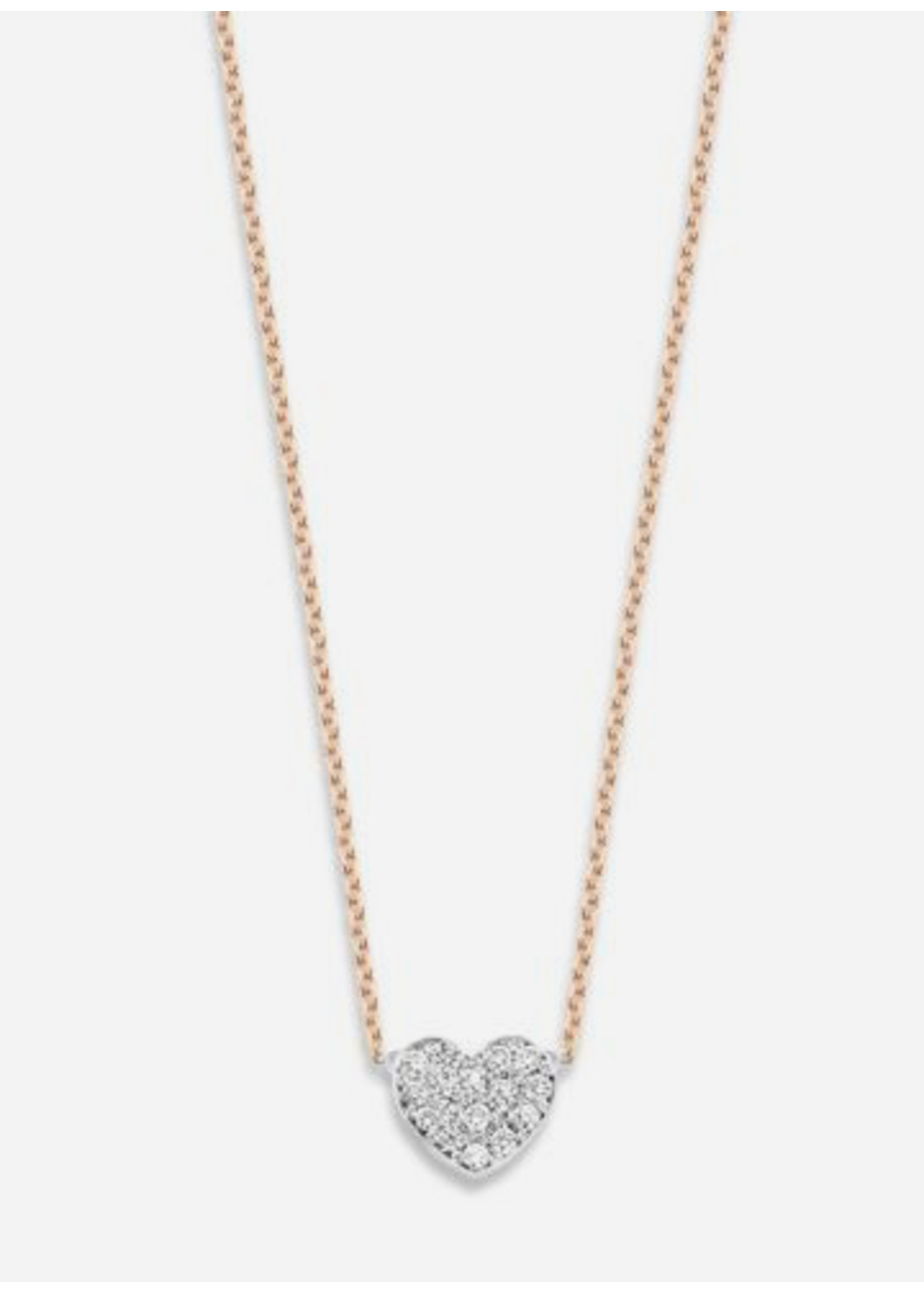 Just Franky Just diamond necklace heart