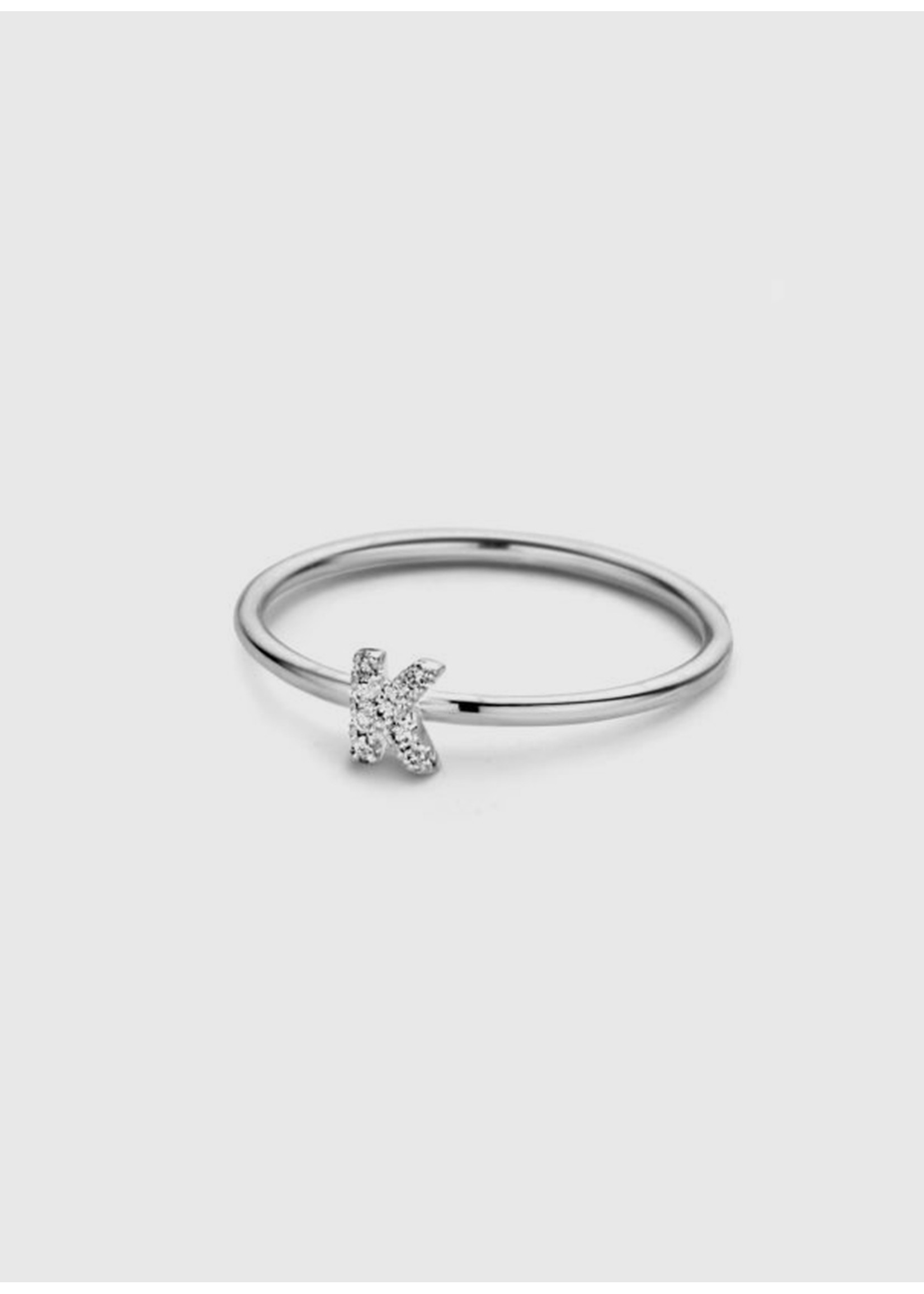 Just Franky Just diamond ring 1 initial