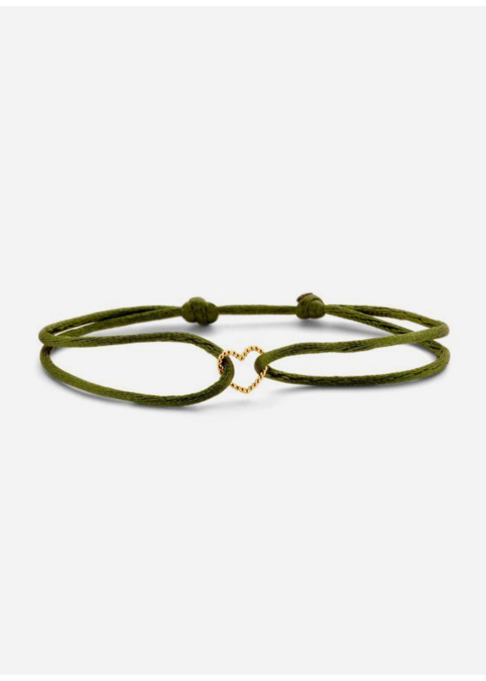 Just Franky Vintage heart bracelet cord