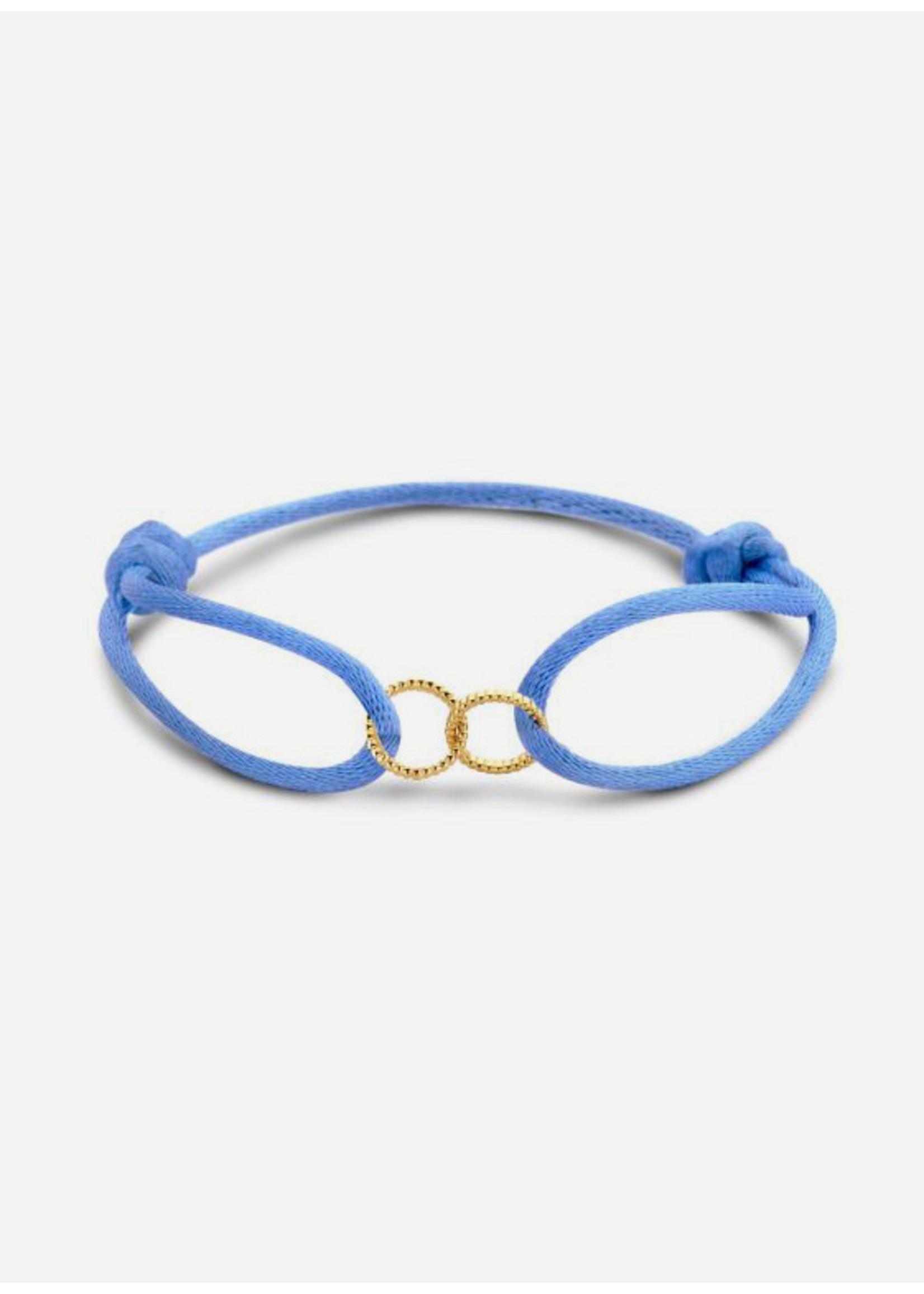 Just Franky Vintage double open circle bracelet cord