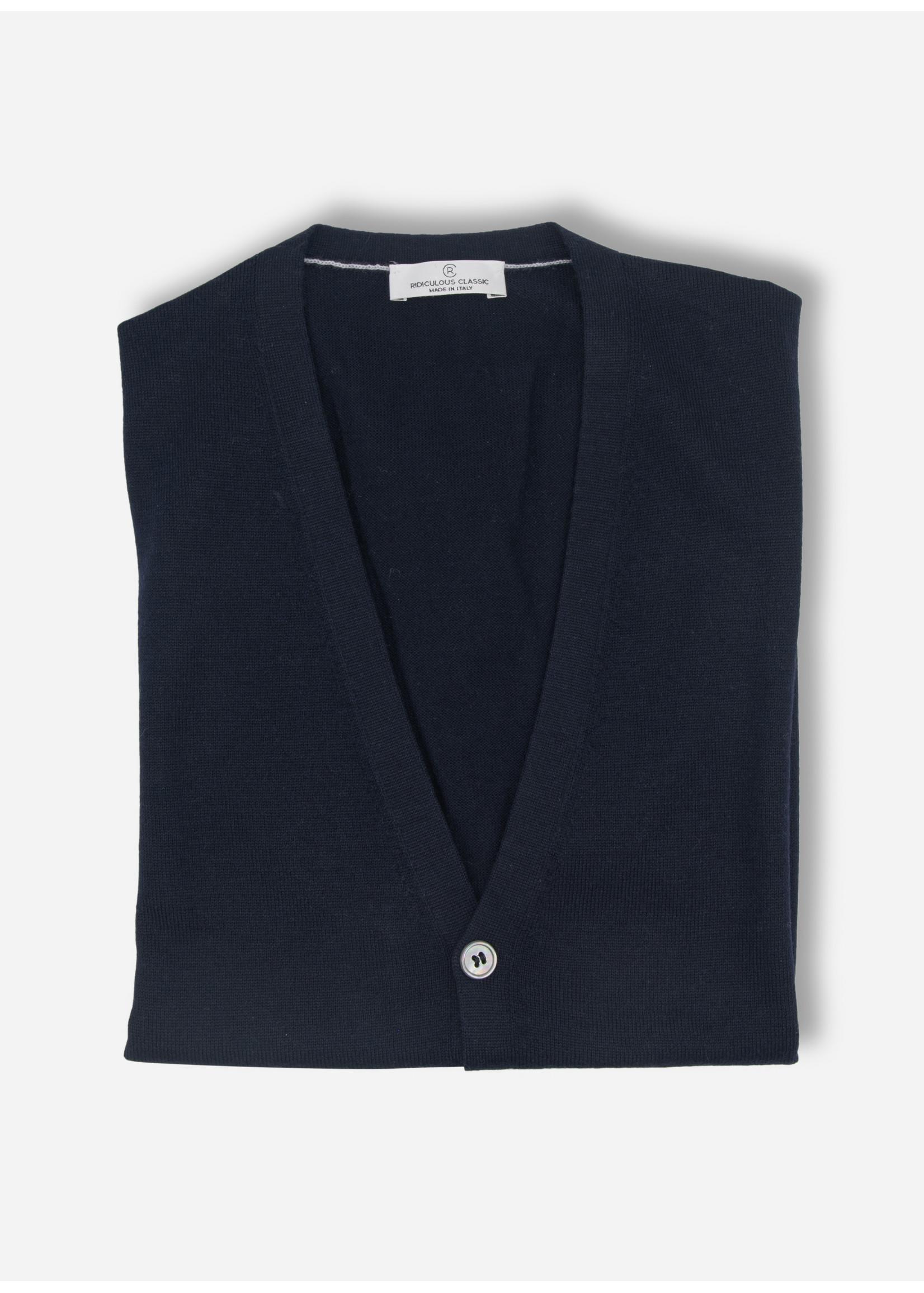 Ridiculous Classic Cardigan sleeveless merino navy