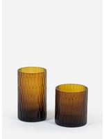 Deko Candles T-light holder amber shiny rice cut M