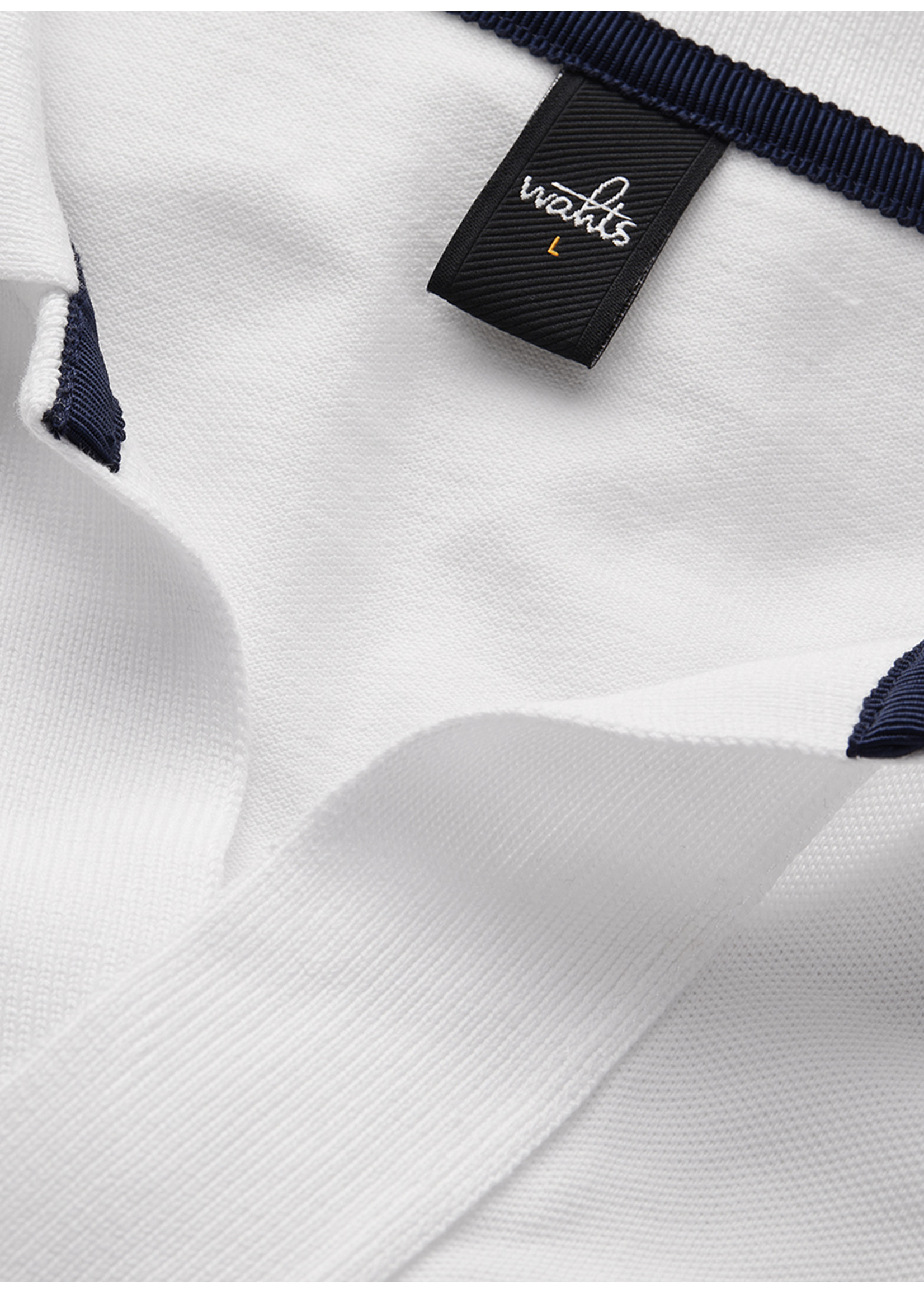 Wahts Rice retro polo shirt pure white