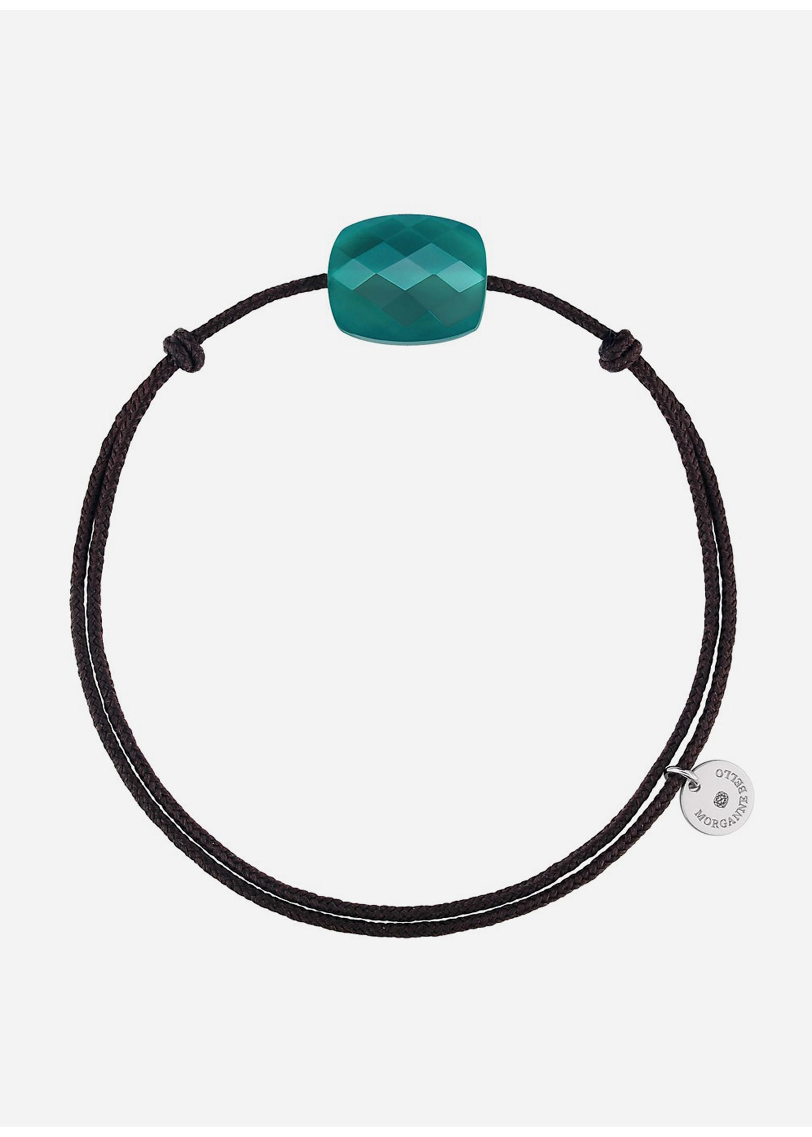 Morganne Bello Cushion green agate bracelet