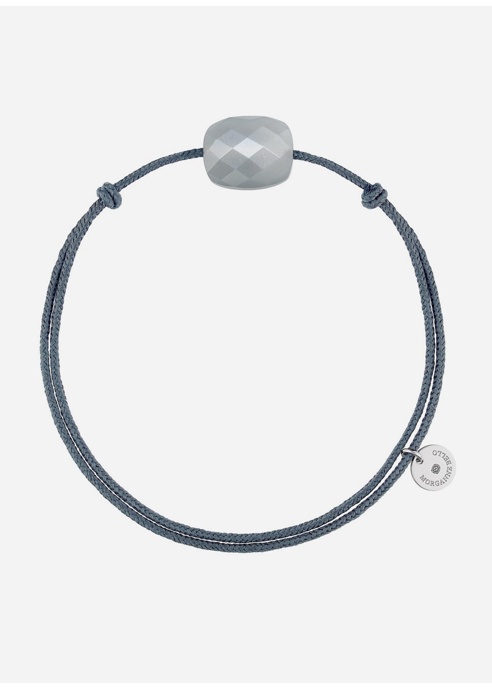 Morganne Bello Cushion grey moonstone bracelet