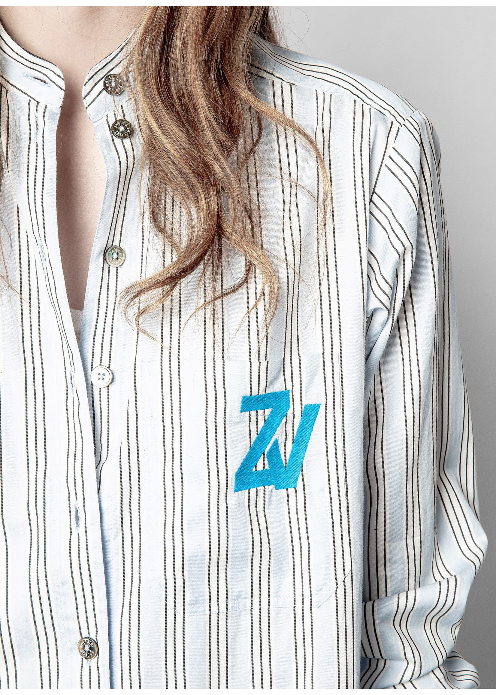 Zadig & Voltaire Ryane raye light blue