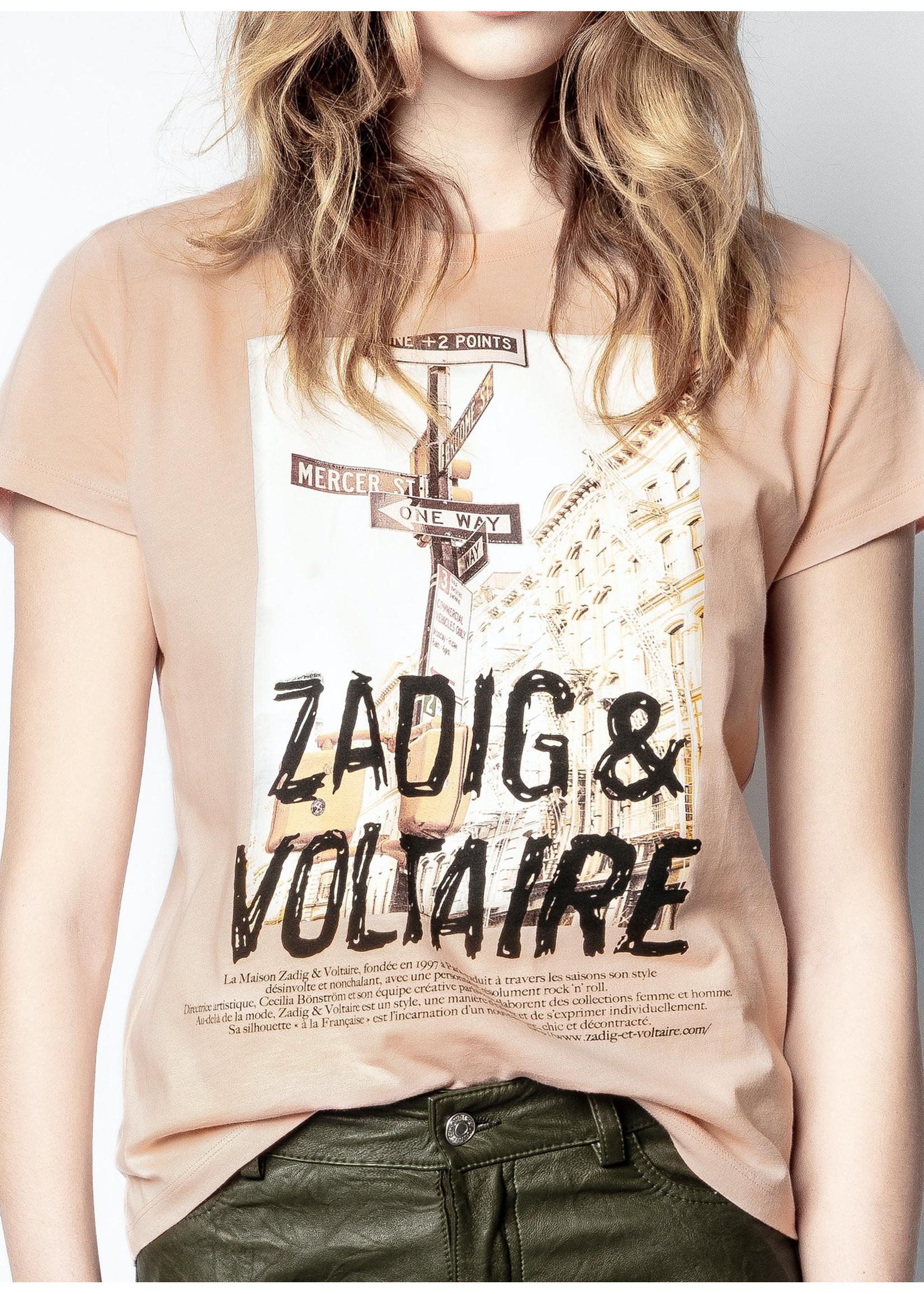 Zadig & Voltaire Zoe Photoprint t-shirt pink