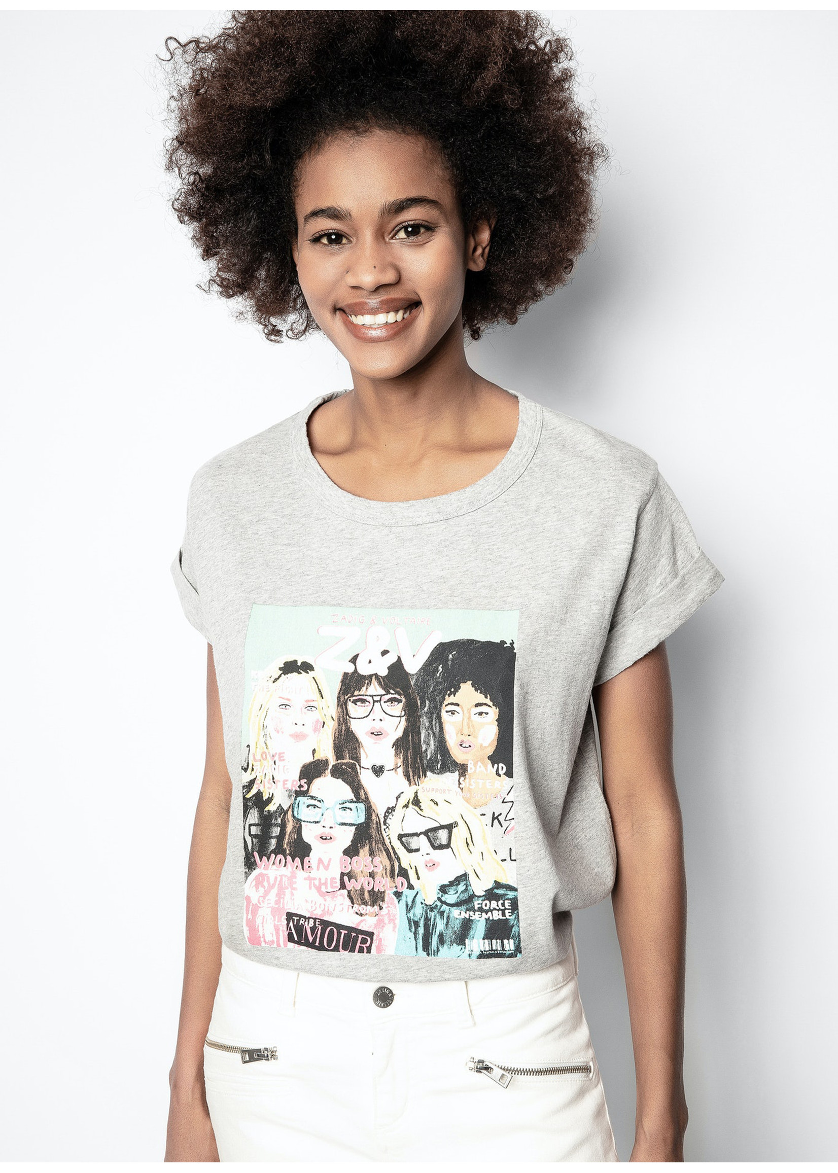 Zadig & Voltaire Anya band of sisters tshirt
