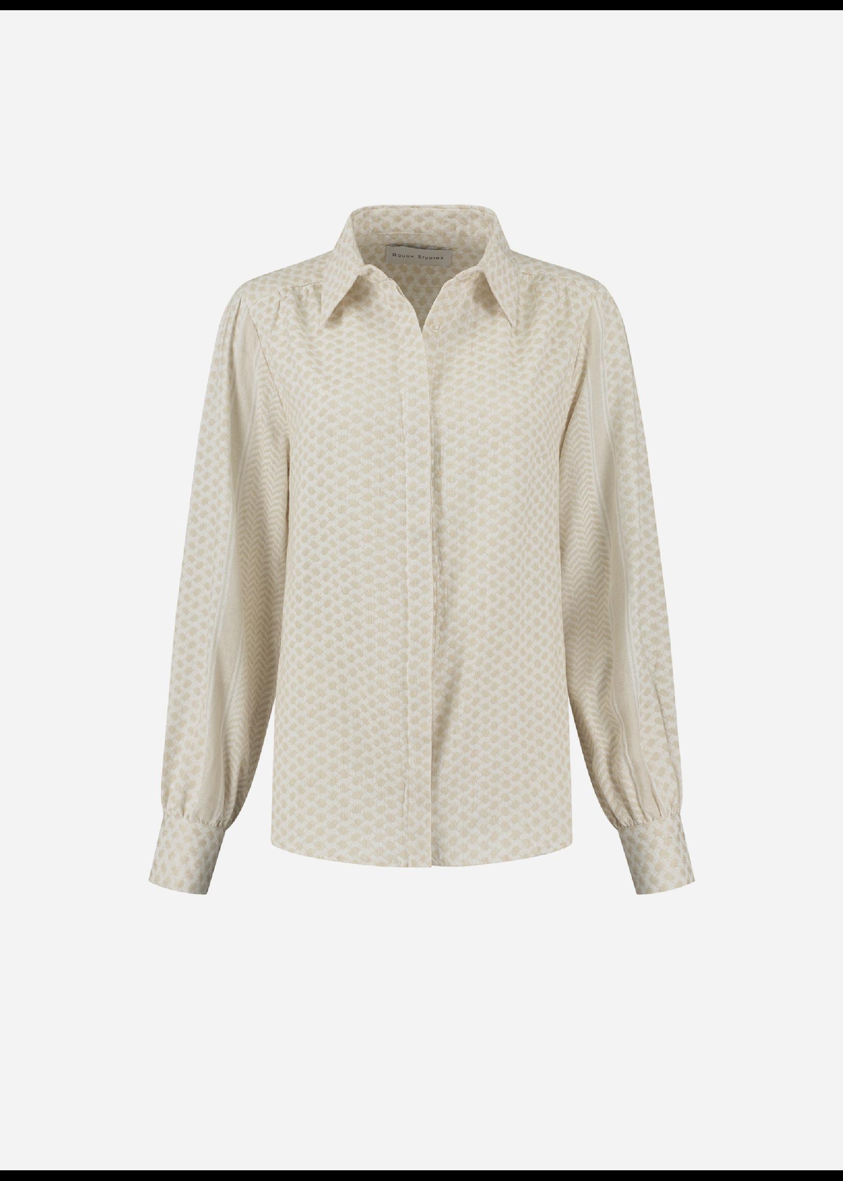 Rough Studios Bibi blouse beige/white