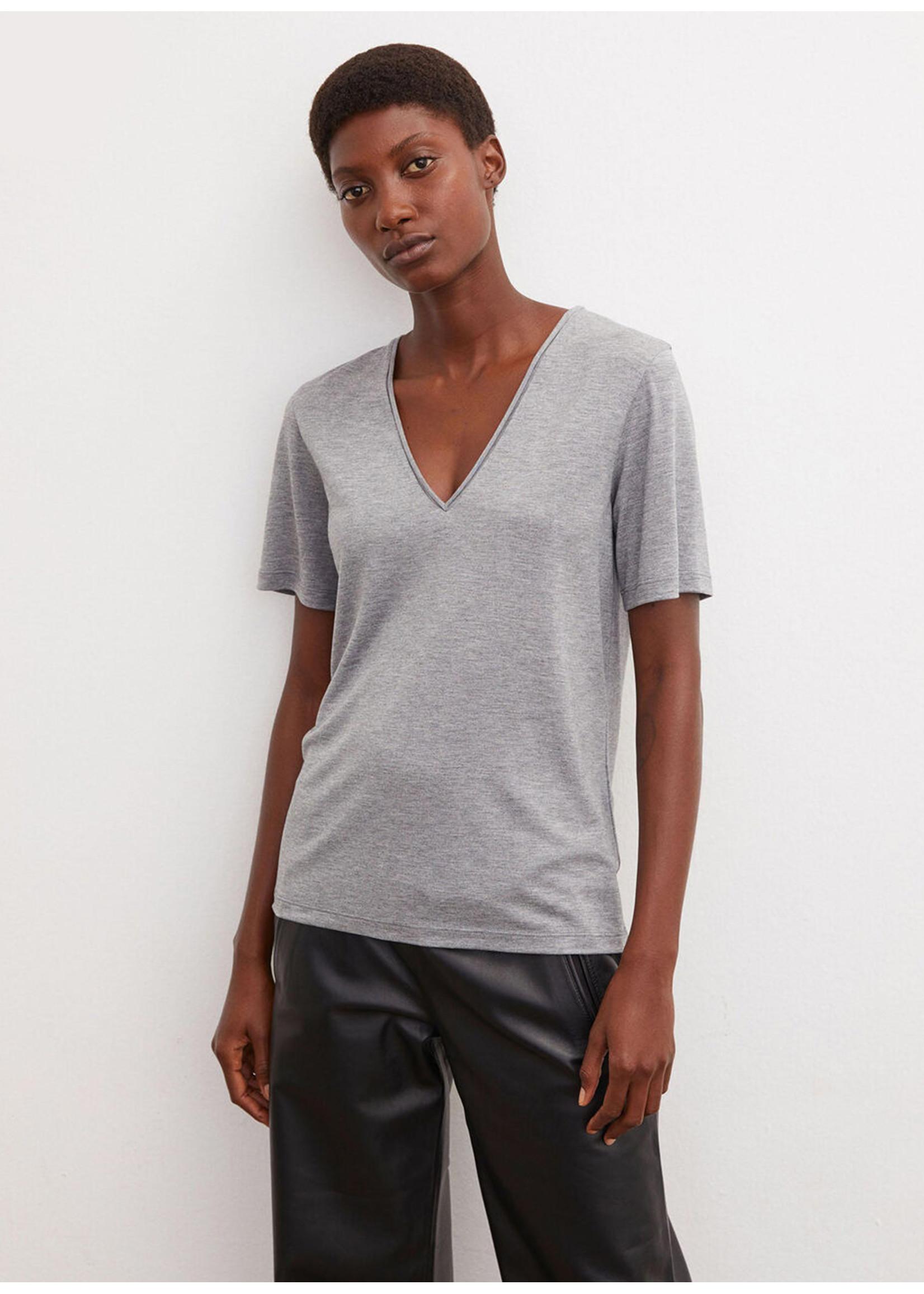 Malene Birger Aneilia tshirt grey melange