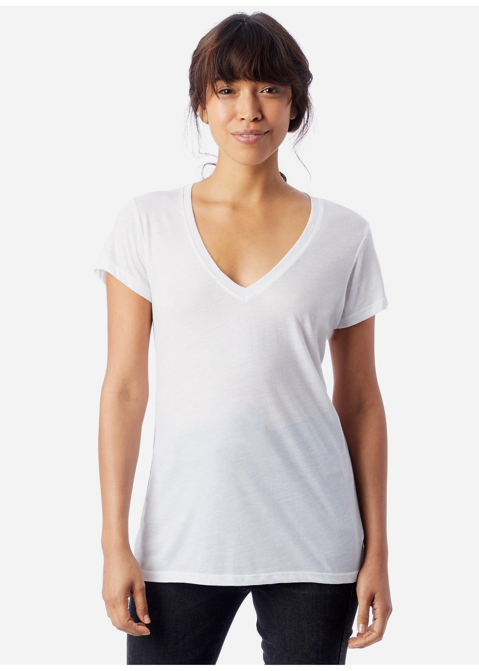 Alternative V-neck white