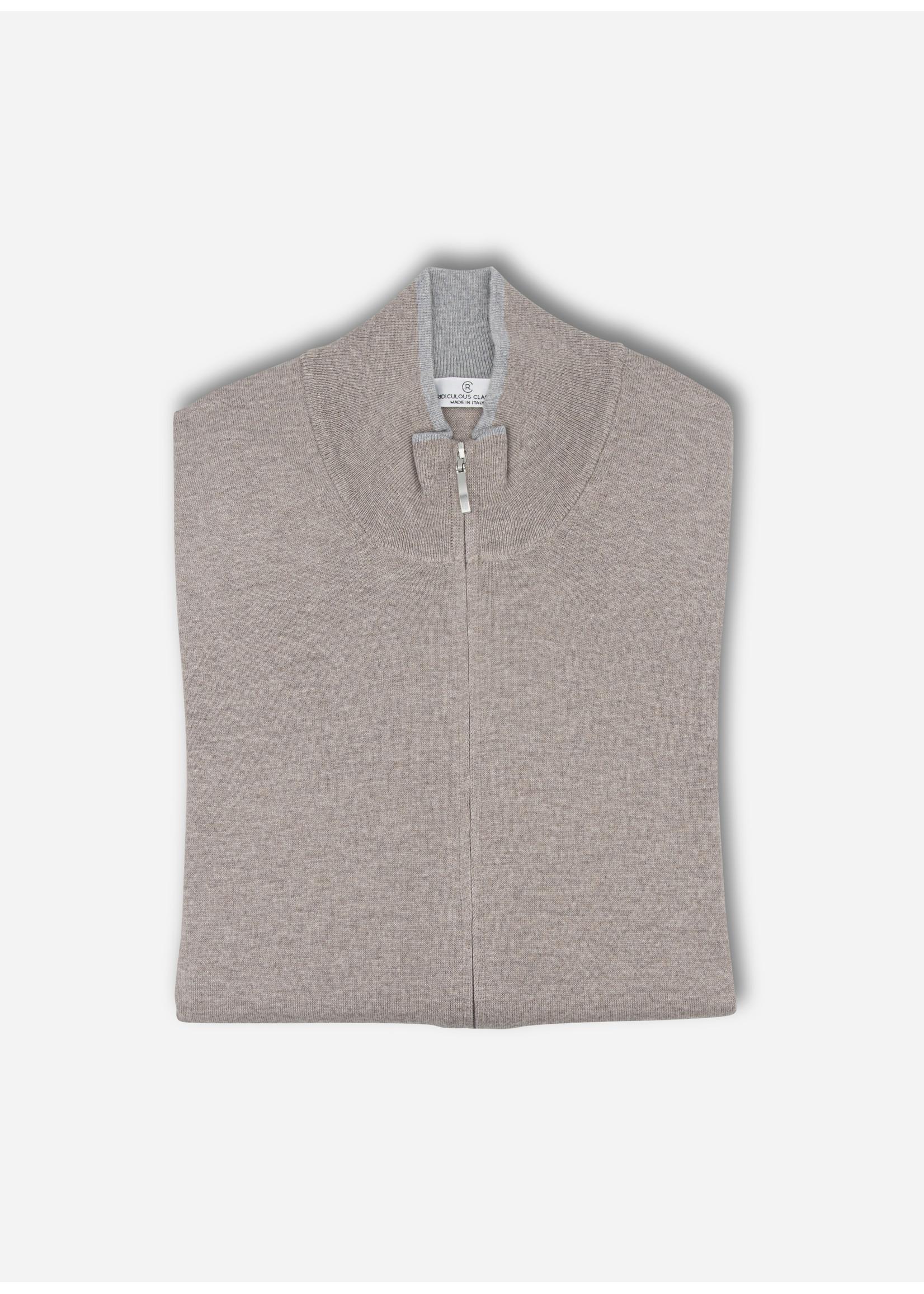 Ridiculous Classic Vest zip taupe