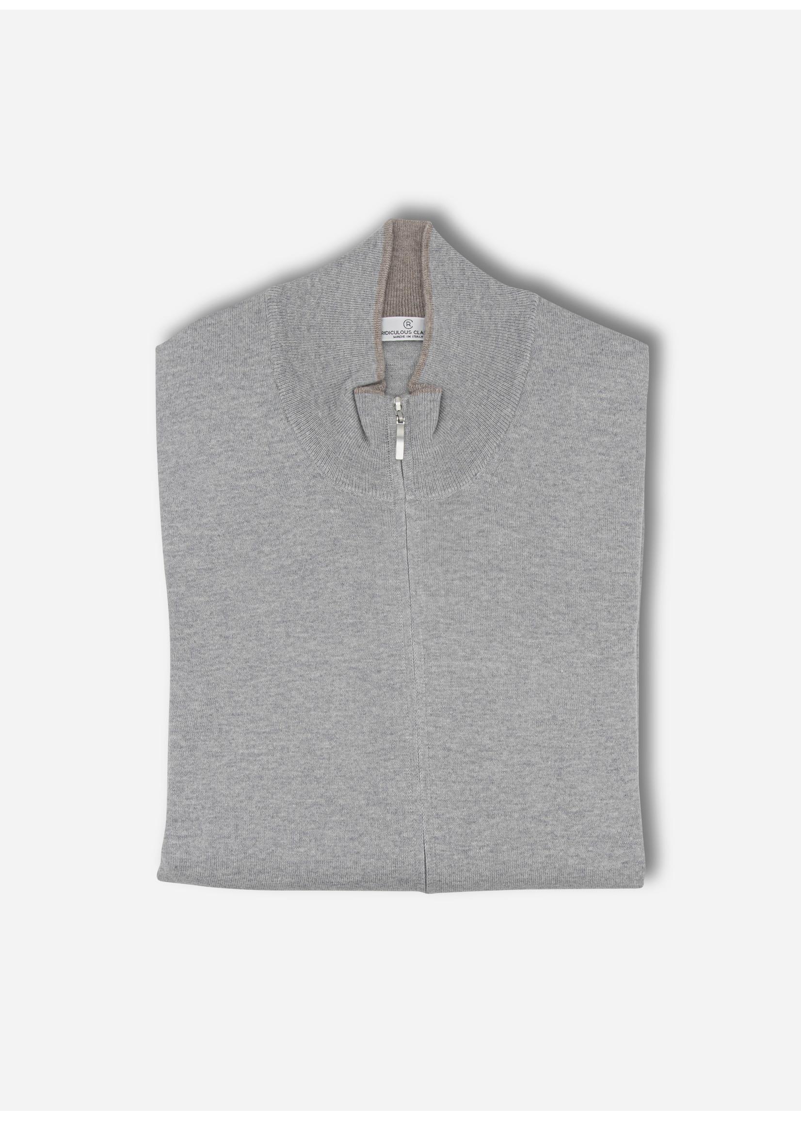 Ridiculous Classic Vest zip grey