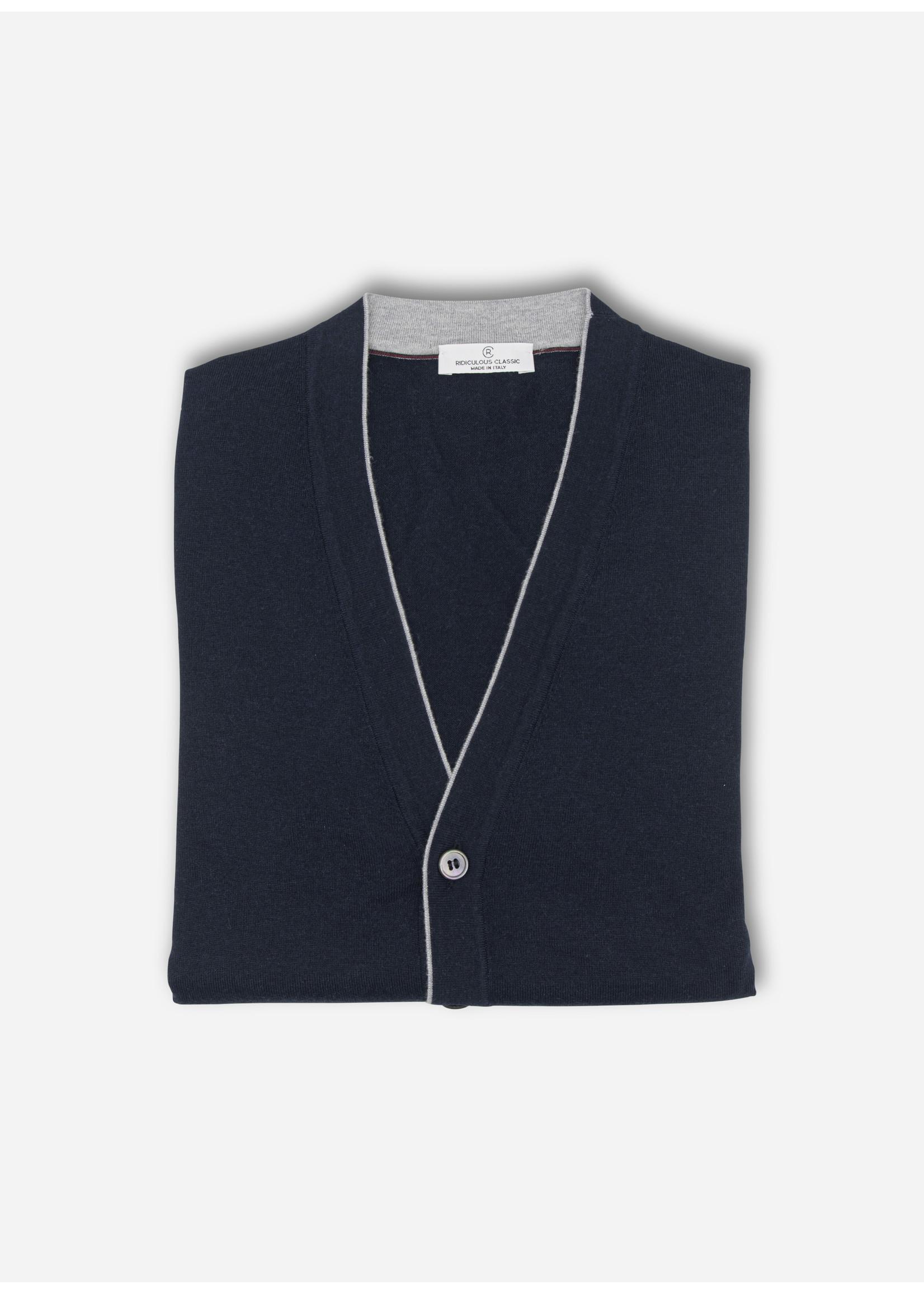 Ridiculous Classic Vest navy button