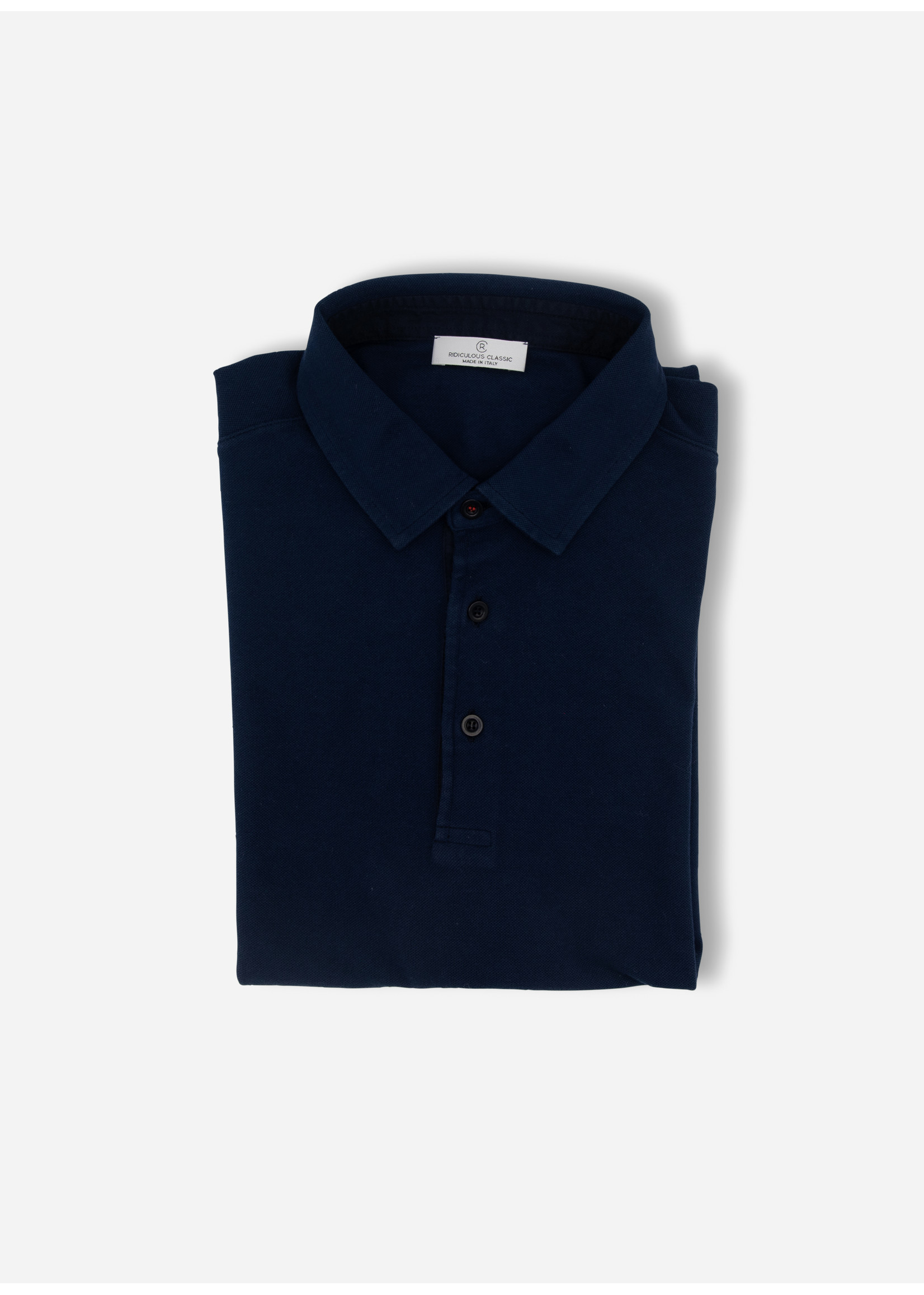 Ridiculous Classic Polo red button navy