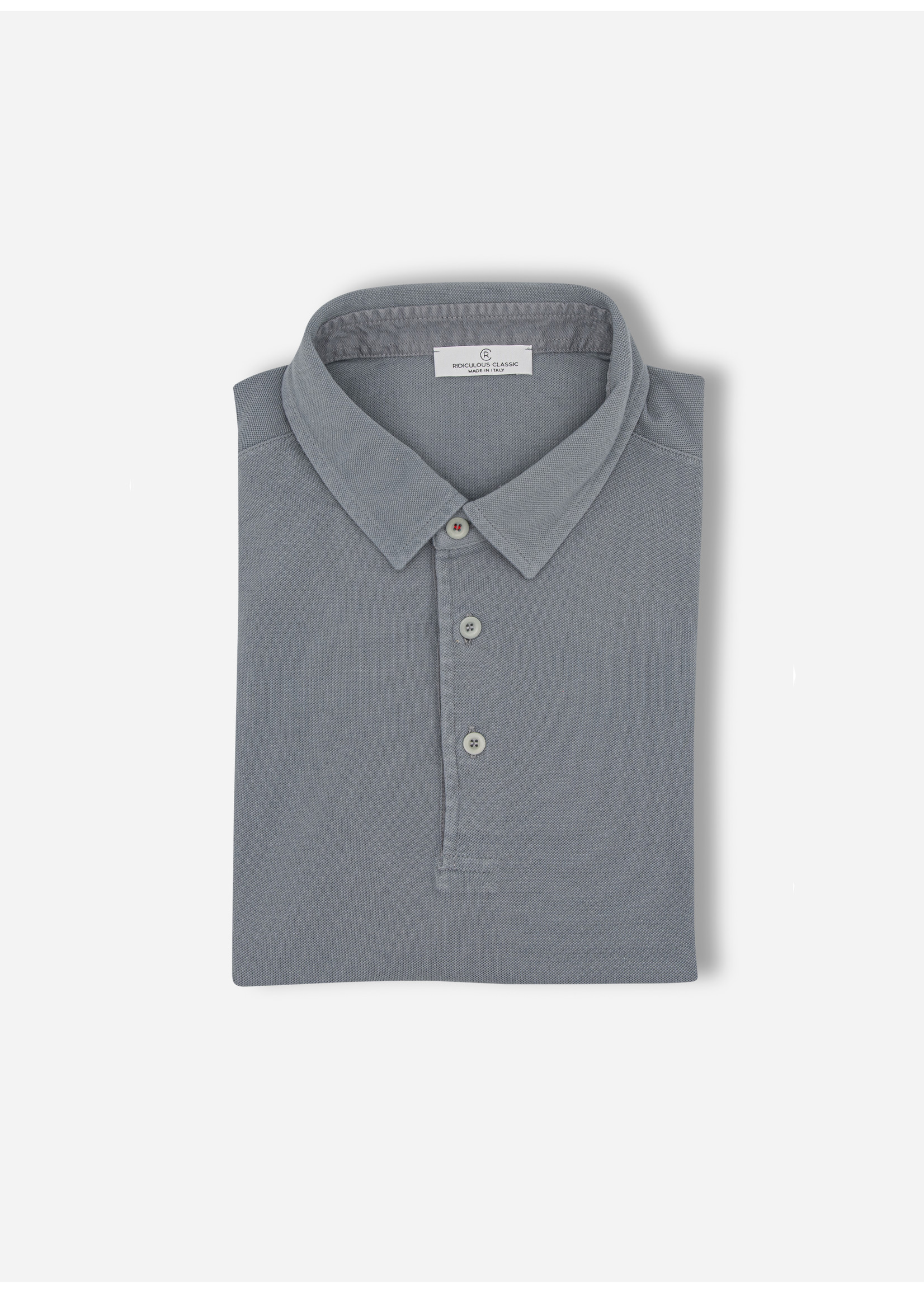 Ridiculous Classic Polo red button grey