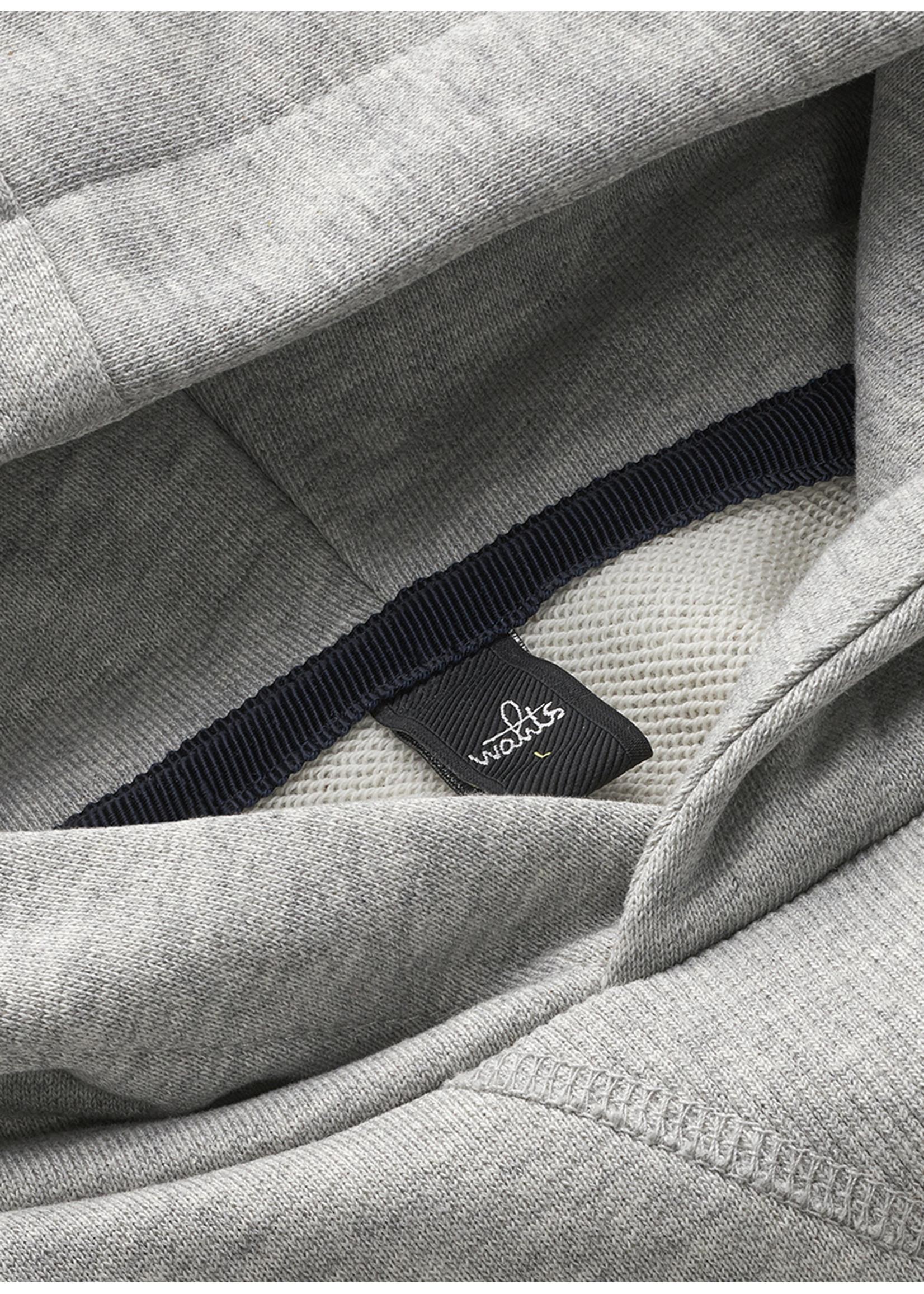 Wahts Vance hooded sweatshirt light grey
