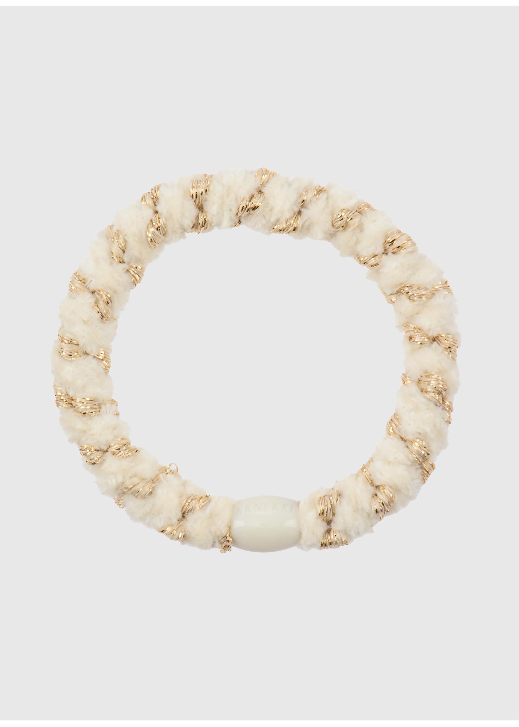Kknekki by Bon Dep Velvet stripe ivory