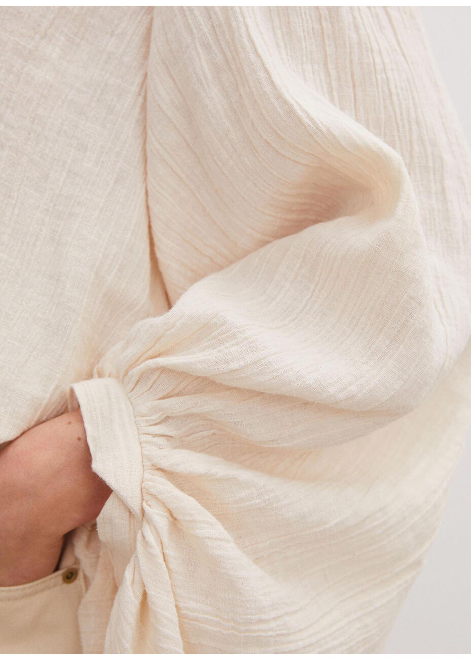Malene Birger Dausie balloon sleeved top cream