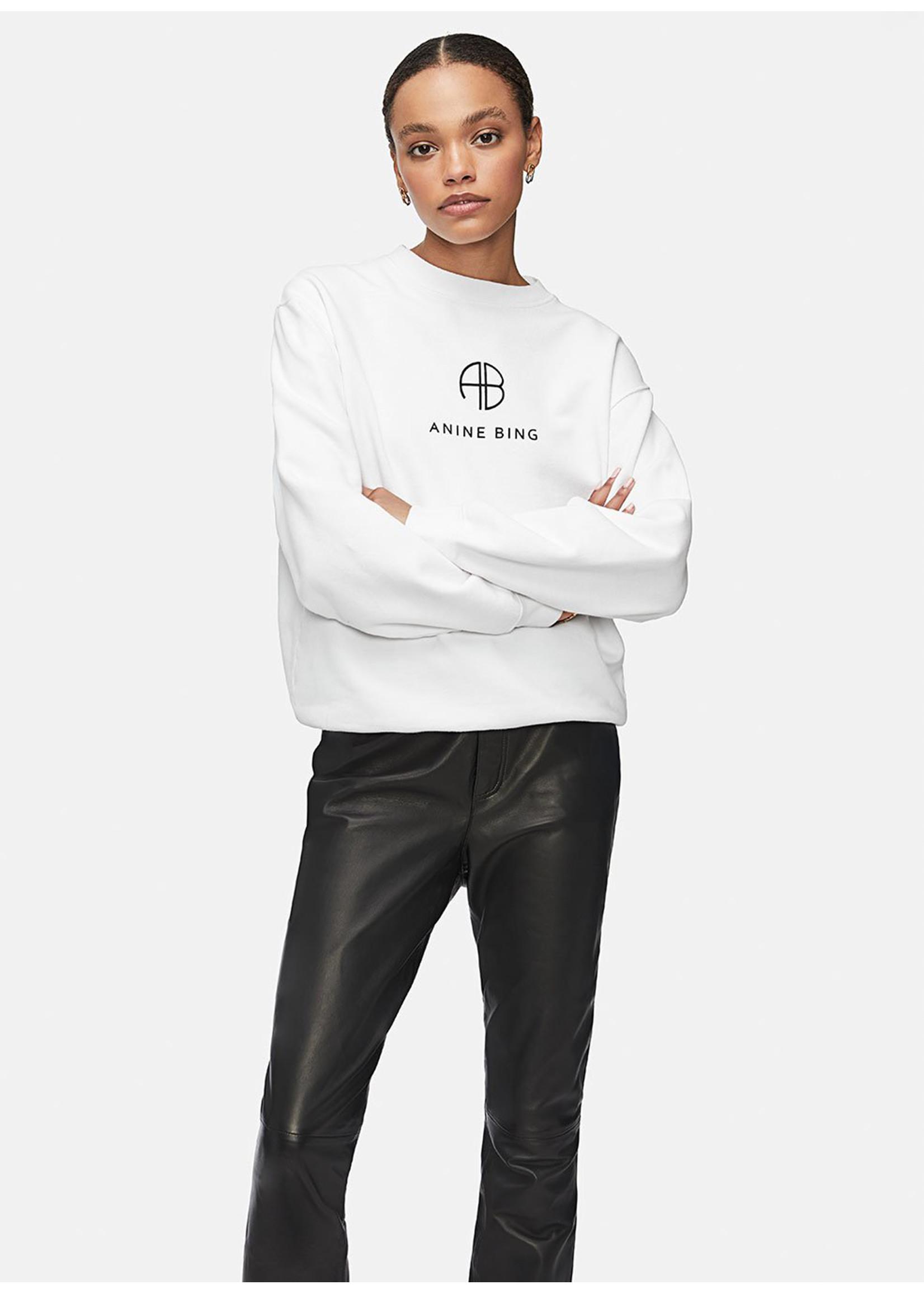 Anine Bing Ramona sweatshirt monogram white