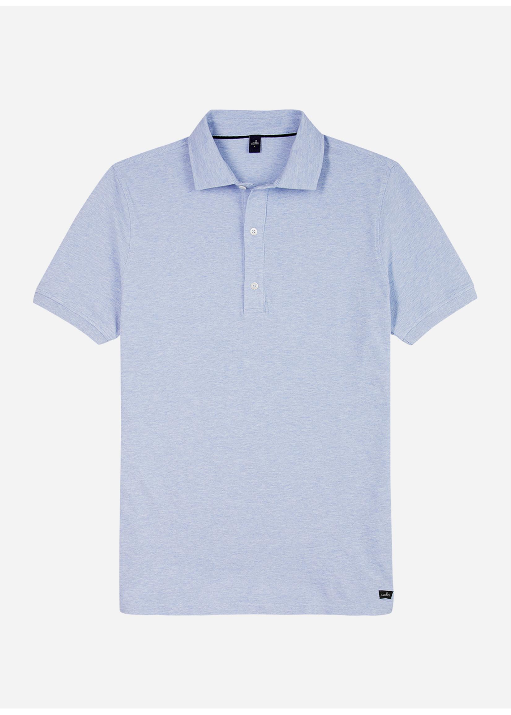 Wahts Davis tailored polo shirt light blue