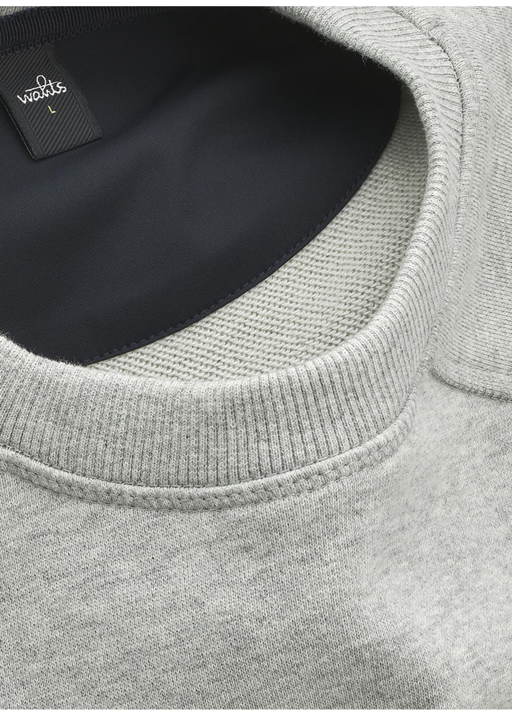 Wahts Moore crewneck sweater light grey