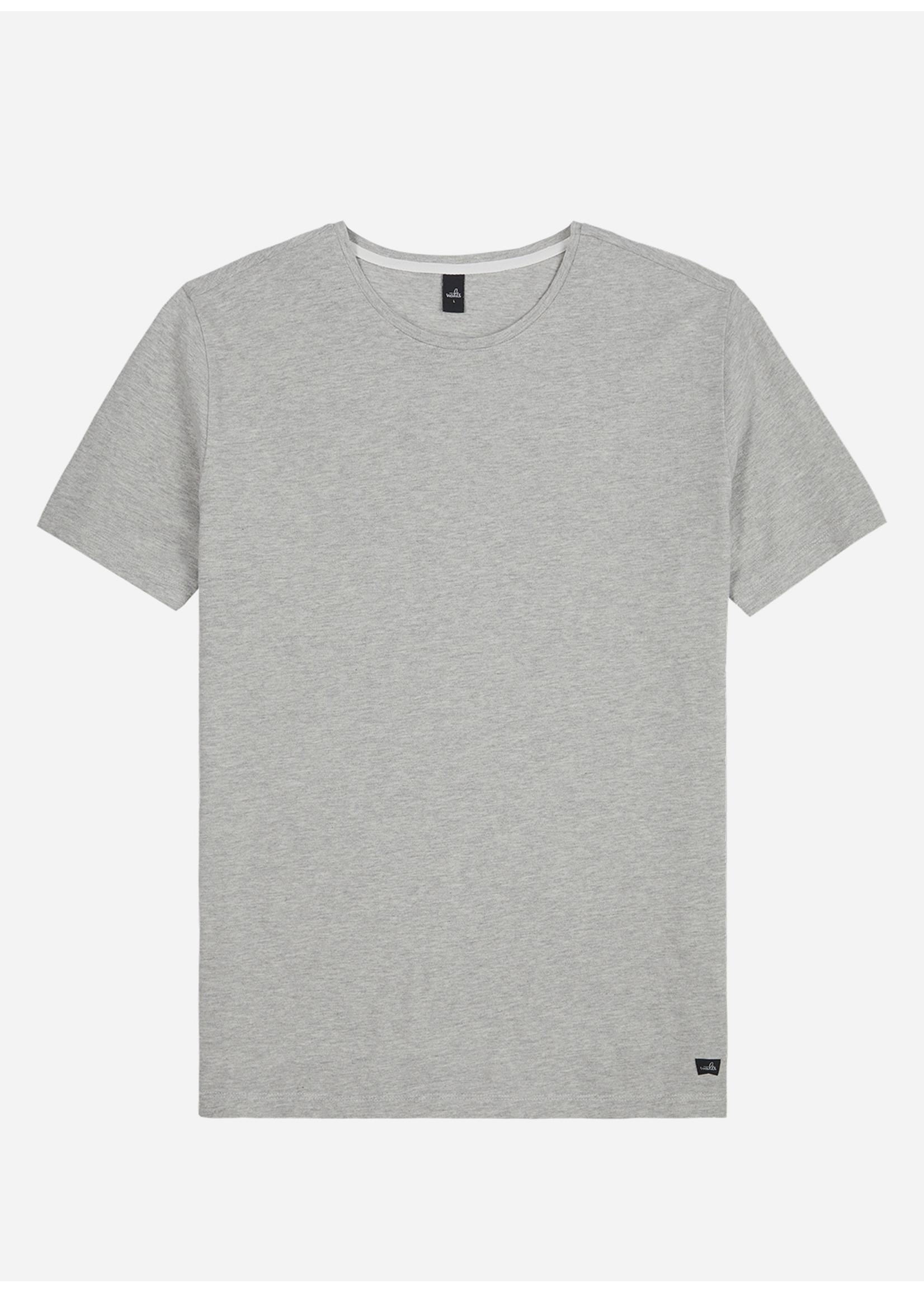 Wahts Dean piqué crew neck t-shirt light grey