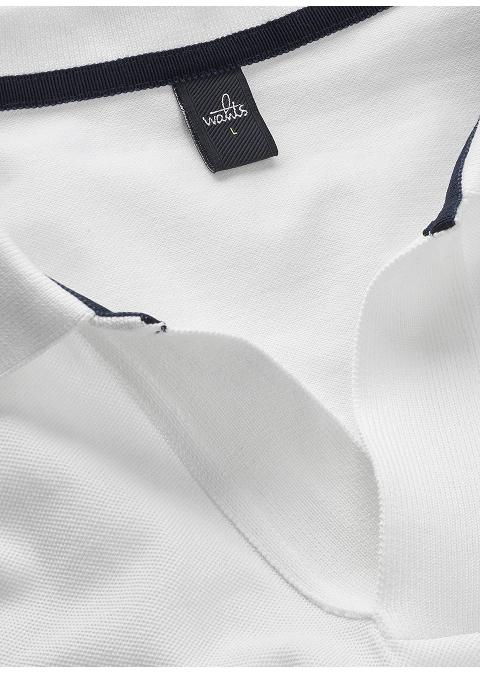 Wahts Barnet long sleeve retro polo shirt pure white