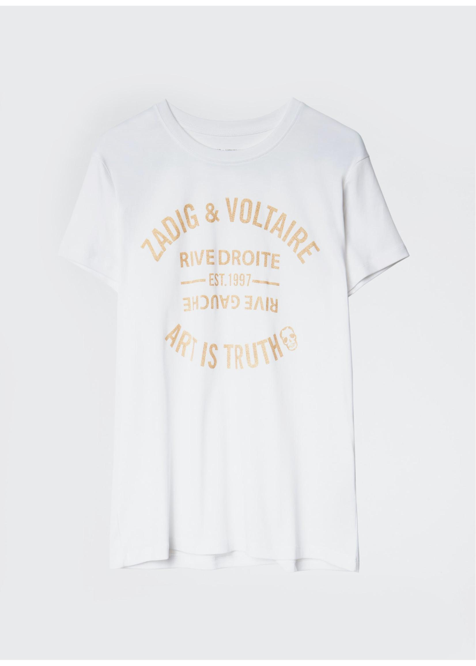 Zadig & Voltaire Zoe blason glitter white