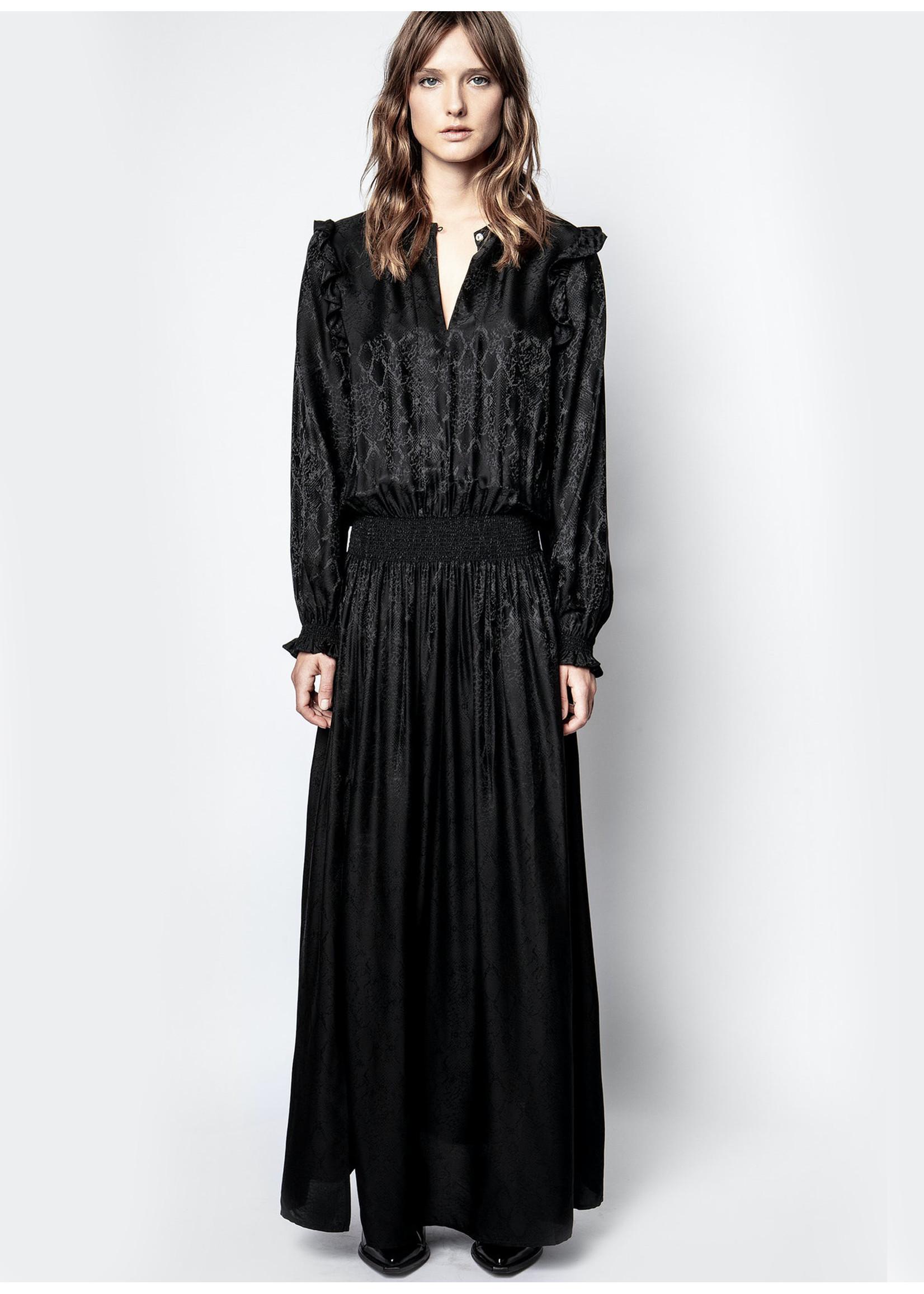 Zadig & Voltaire Roar jac satin dress black