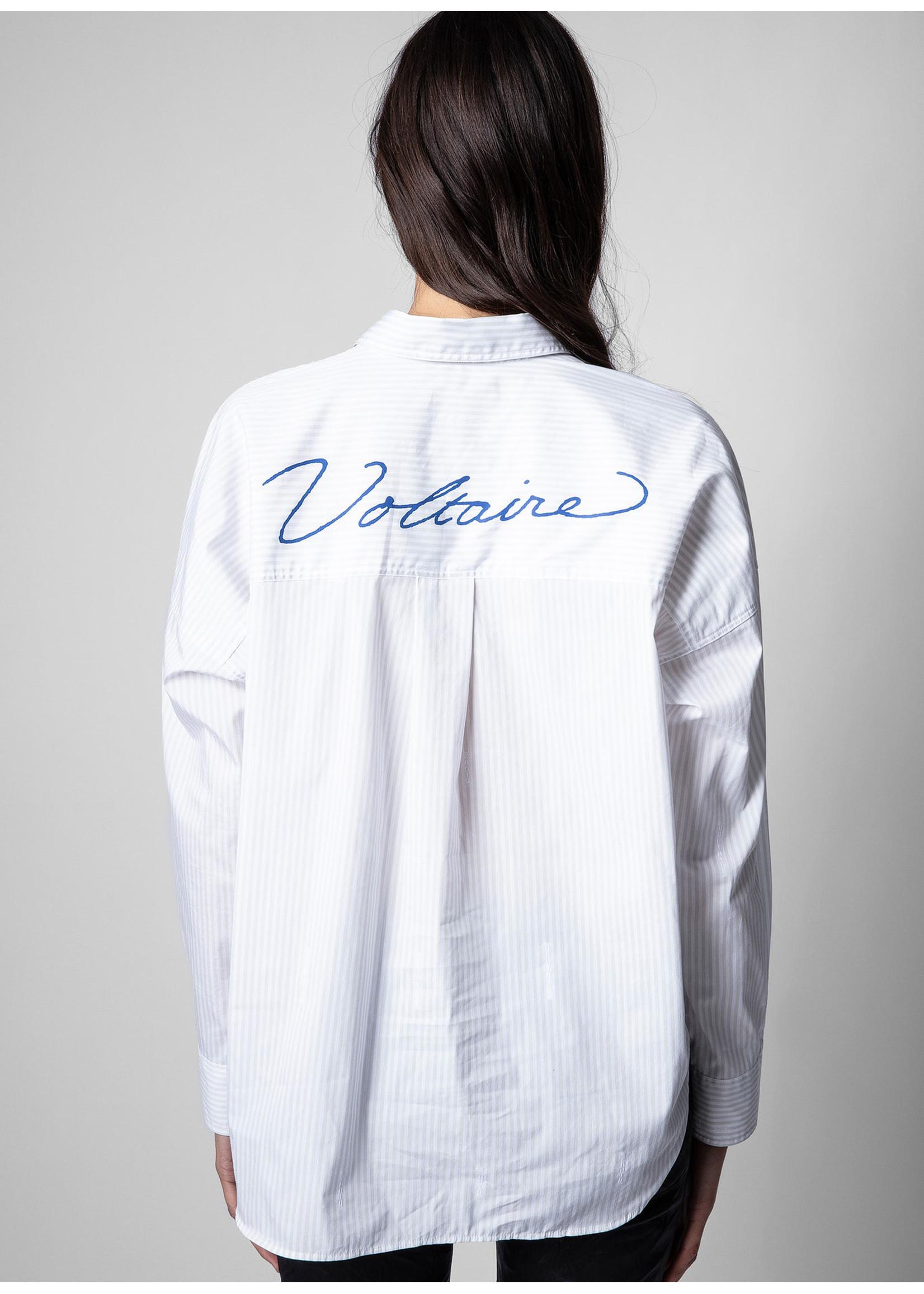 Zadig & Voltaire Tamara Stripes Anthracite