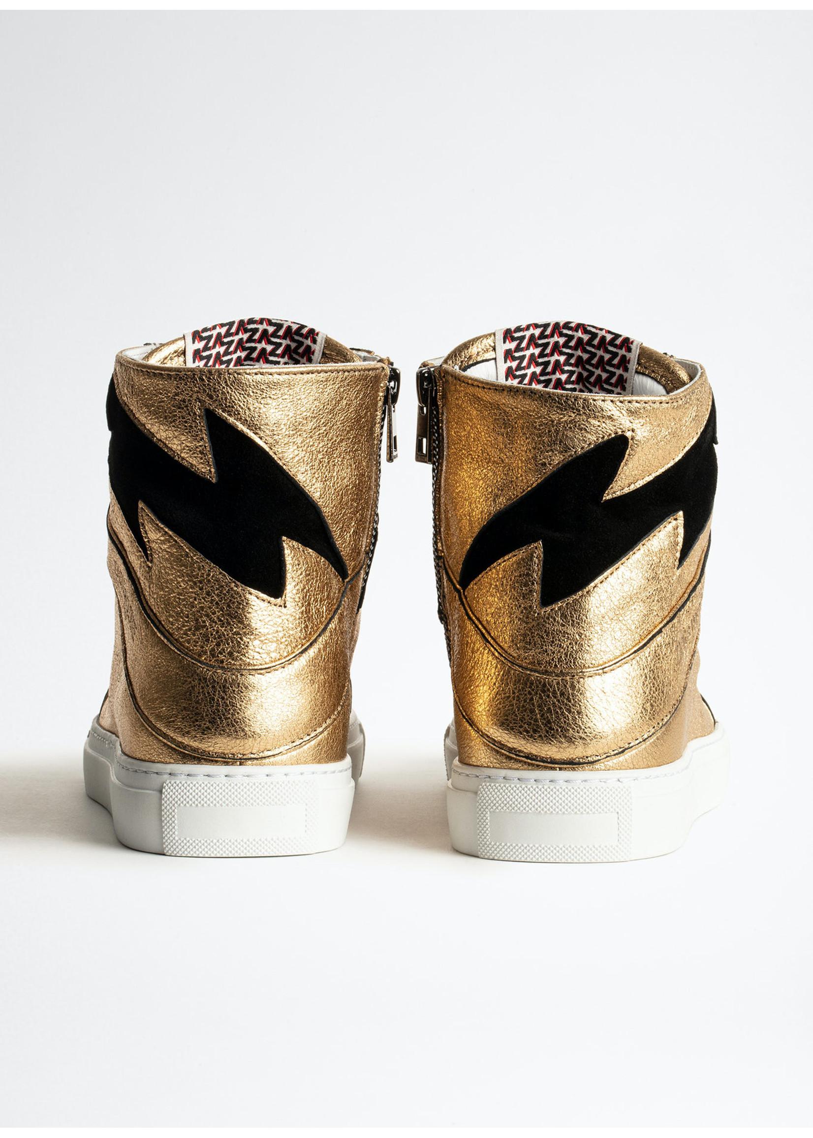 Zadig & Voltaire High Flash Metallic Lambskin Gold