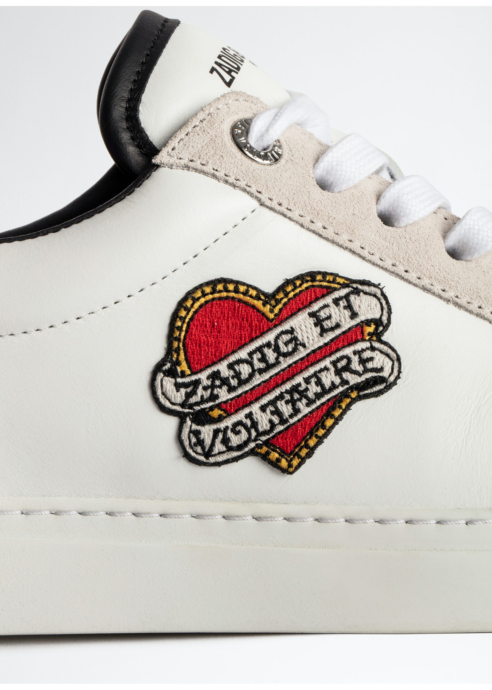 Zadig & Voltaire Smooth Calfskin Heart Patch White