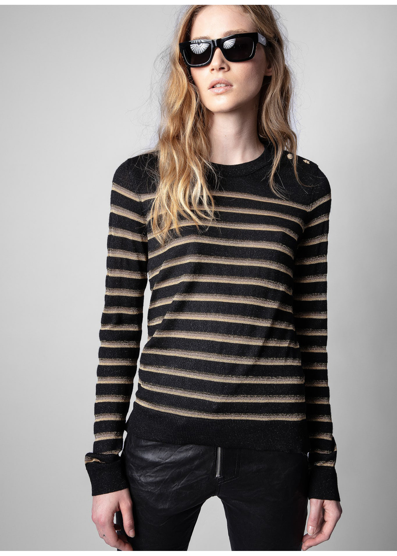 Zadig & Voltaire Miss Stripes Black