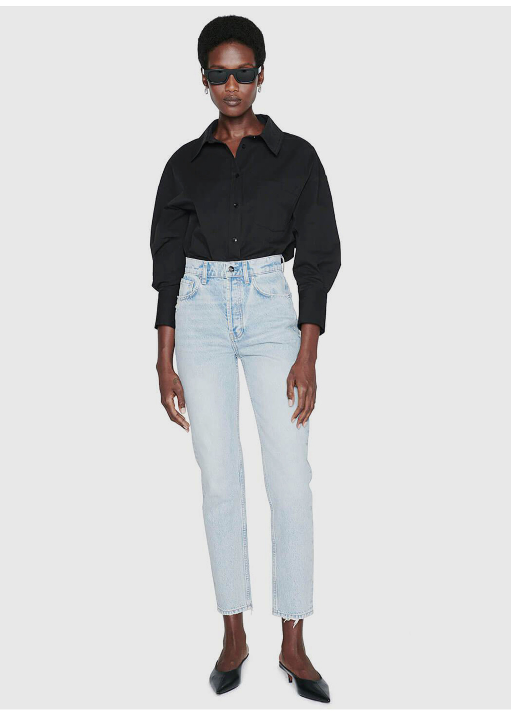 Anine Bing Mika Shirt Black