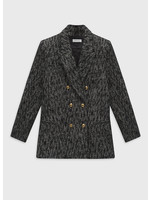 Anine Bing Dionne Blazer Black Tweed